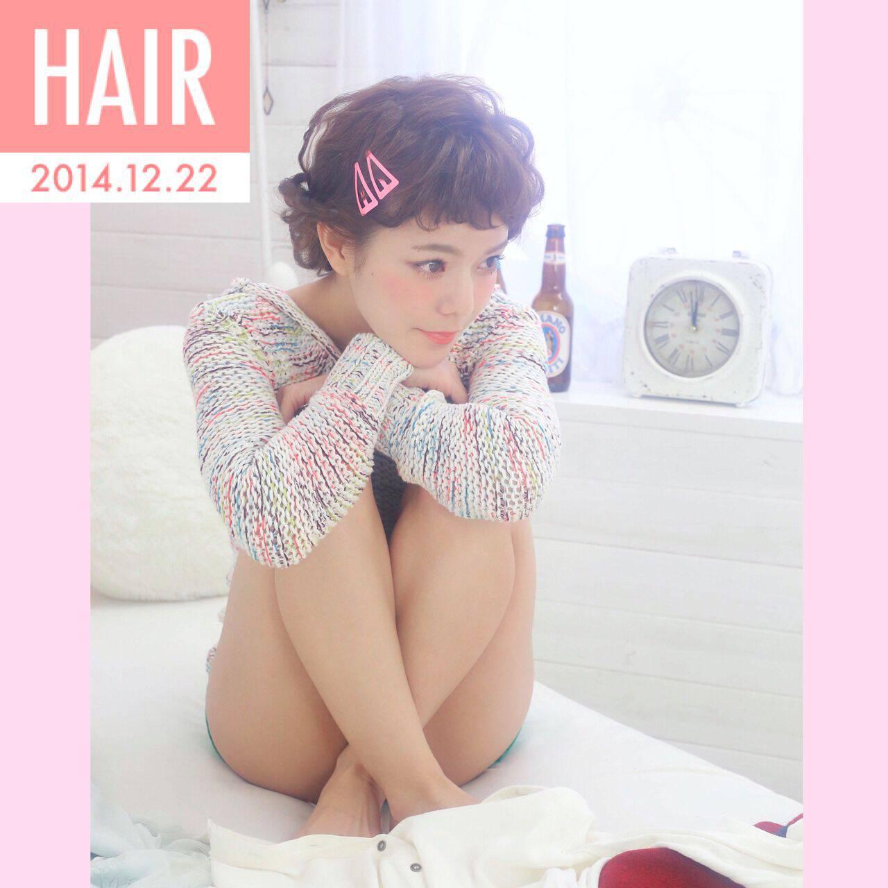 三つ編み アップスタイル ヘアアレンジ 暗髪ヘアスタイルや髪型の写真・画像