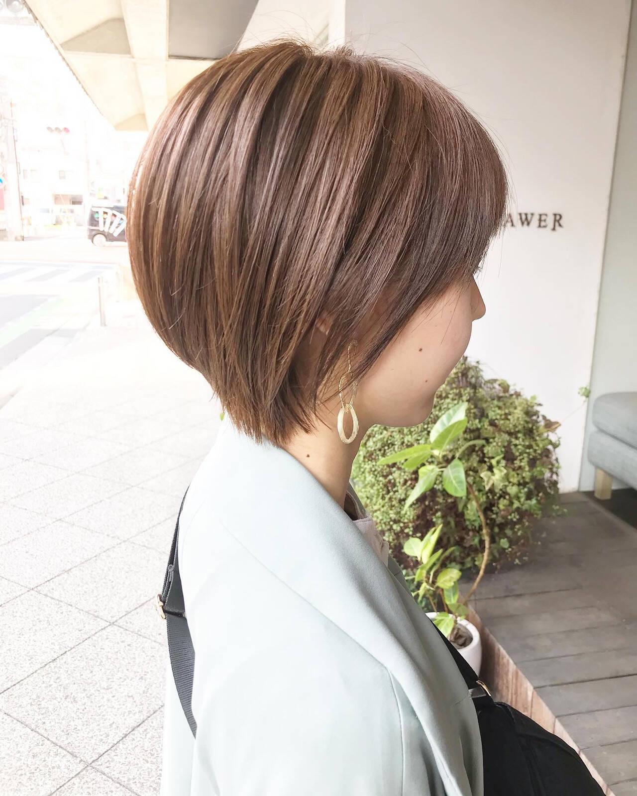 毛束感 ナチュラル ショート ショートヘアヘアスタイルや髪型の写真・画像