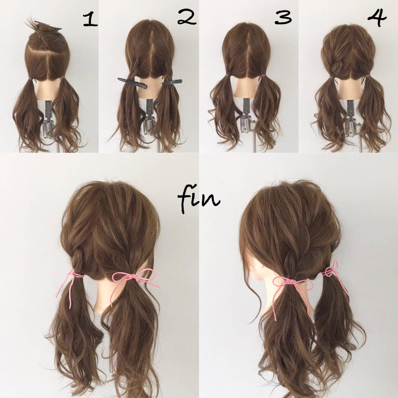 デート ロング 女子会 簡単ヘアアレンジヘアスタイルや髪型の写真・画像