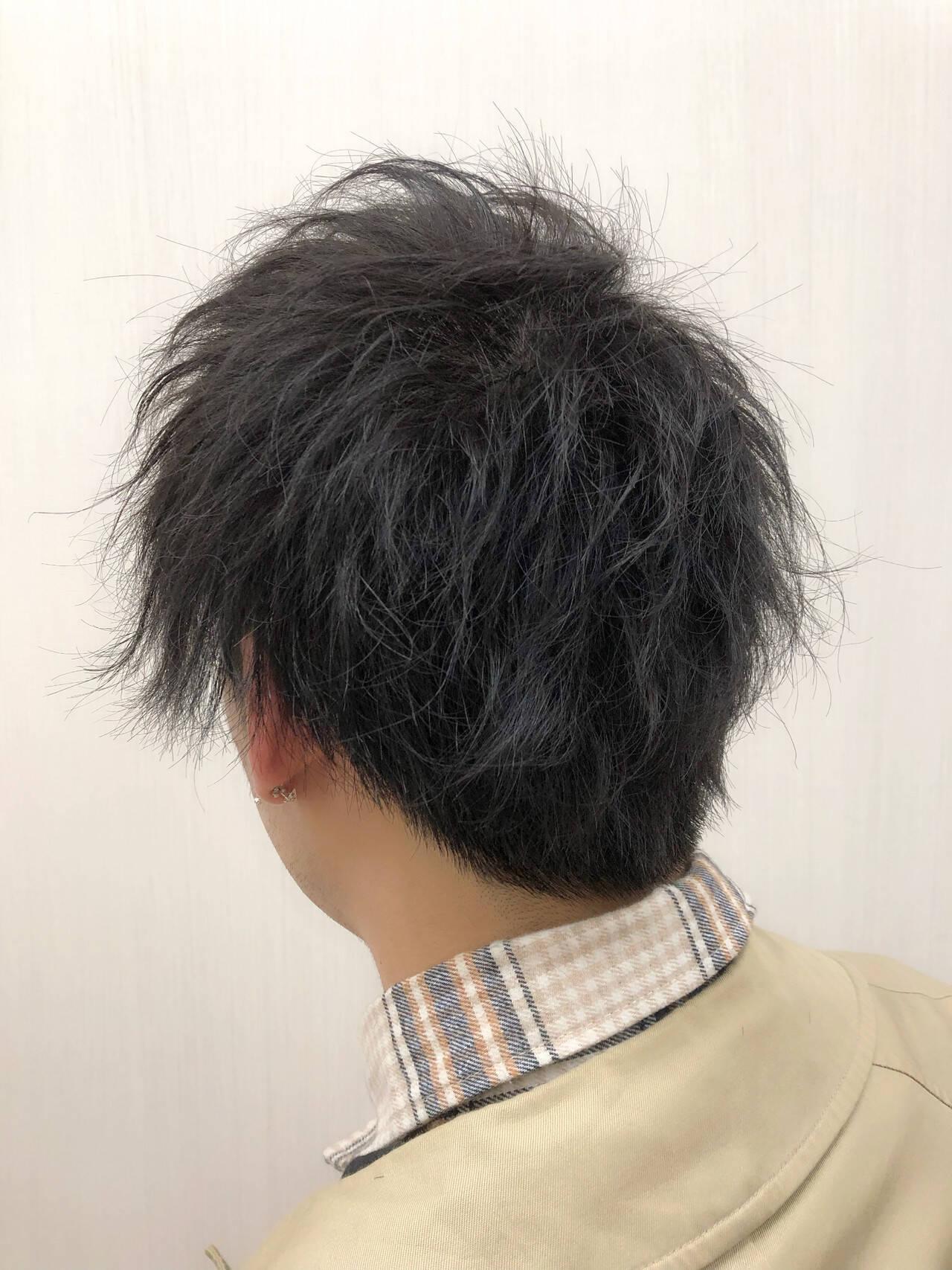 パーマ メンズ メンズスタイル ストリートヘアスタイルや髪型の写真・画像