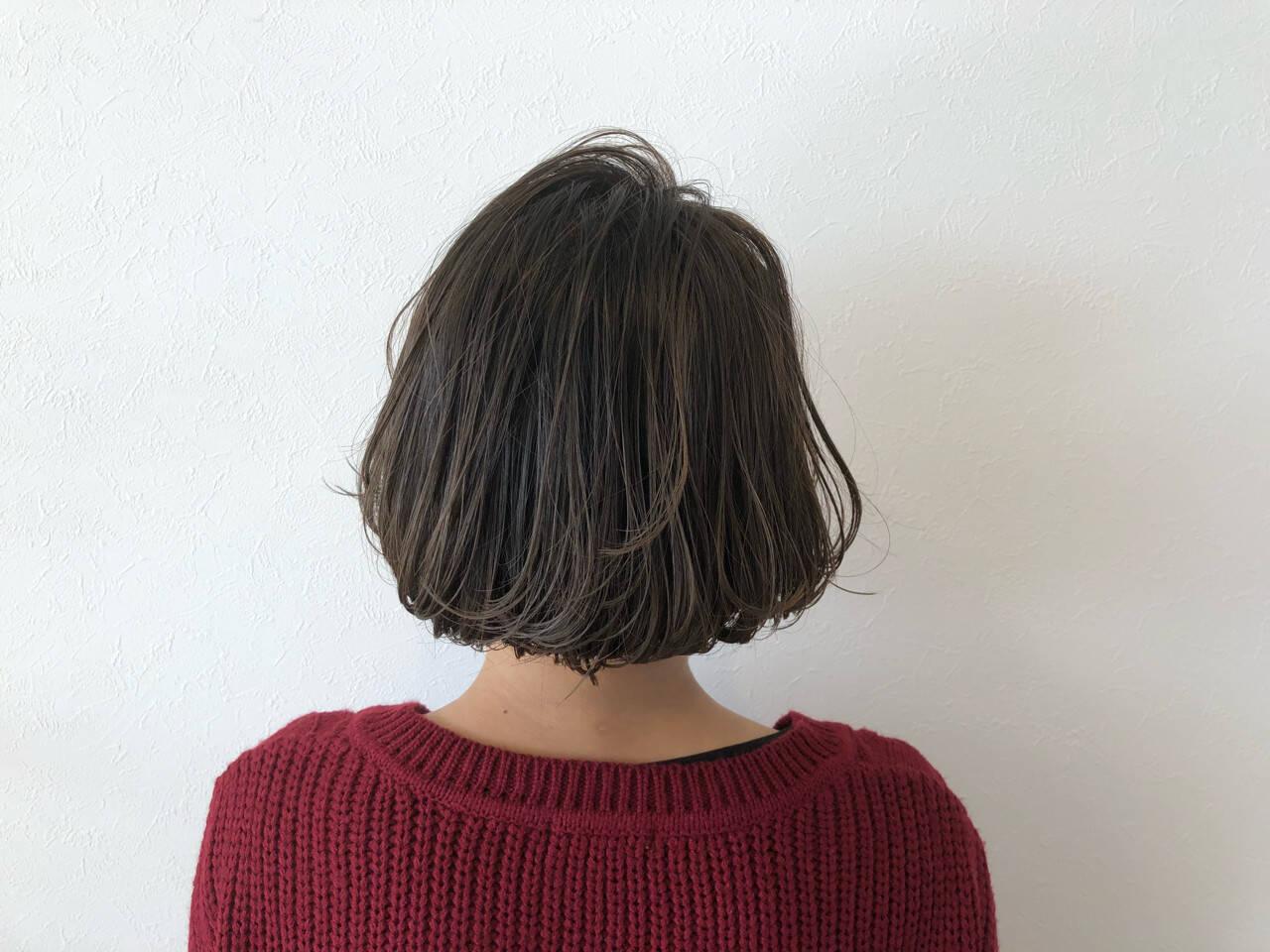 ボブ 外ハネ 色気 大人女子ヘアスタイルや髪型の写真・画像