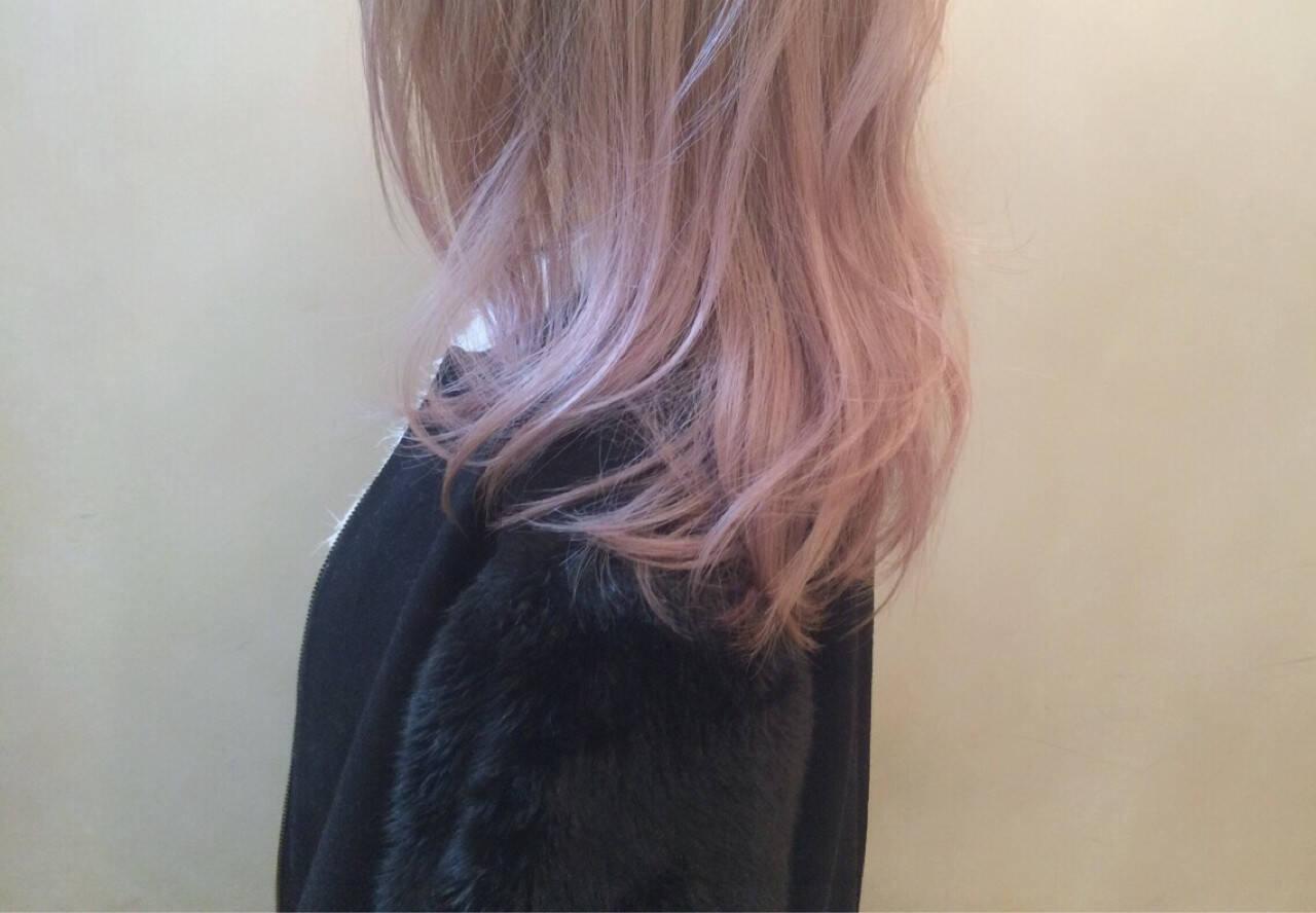 ゆるふわ ピンク ピンクアッシュ ストリートヘアスタイルや髪型の写真・画像