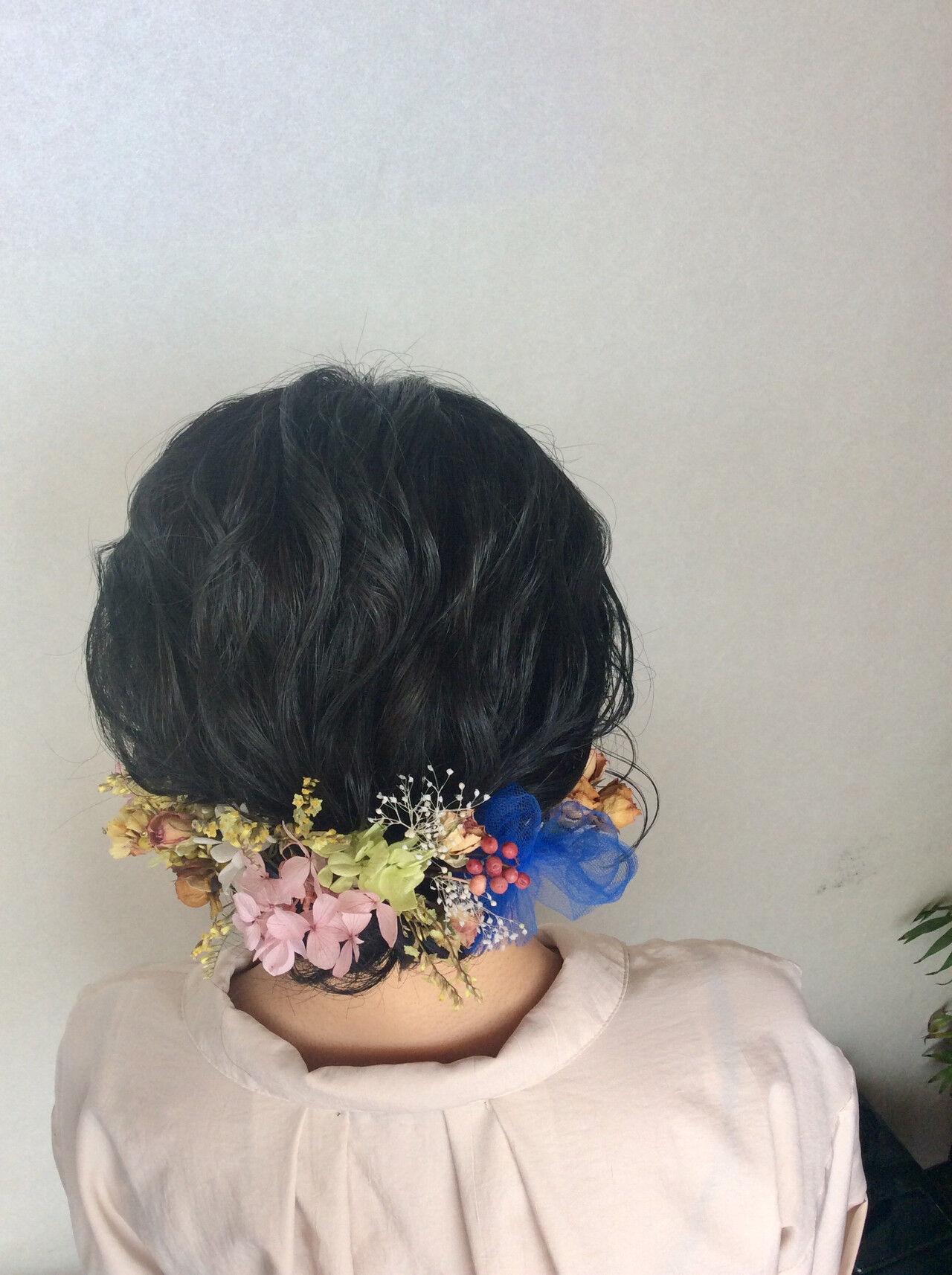 結婚式 成人式 ナチュラル ヘアアレンジヘアスタイルや髪型の写真・画像