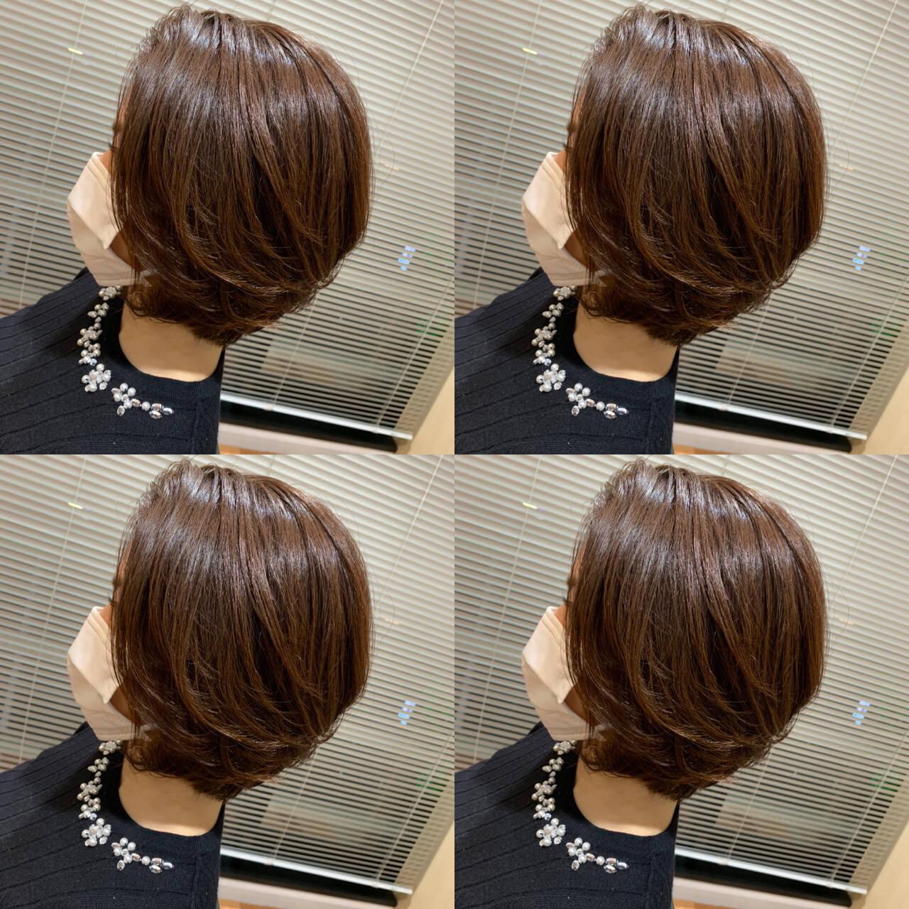 レイヤースタイル 小顔ショート ナチュラル レイヤーカットヘアスタイルや髪型の写真・画像