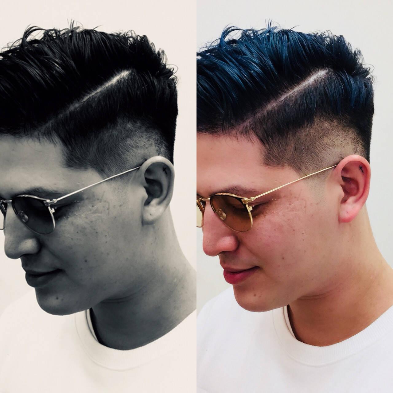 ショート ストリート ポンパドール メンズヘアスタイルや髪型の写真・画像