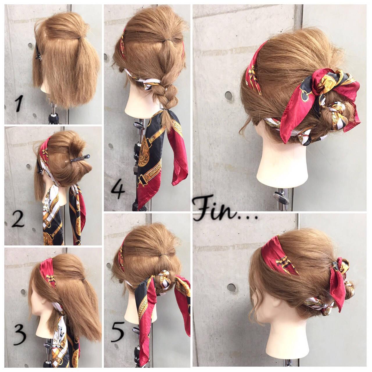 ヘアアクセ 大人女子 ショート 簡単ヘアアレンジヘアスタイルや髪型の写真・画像