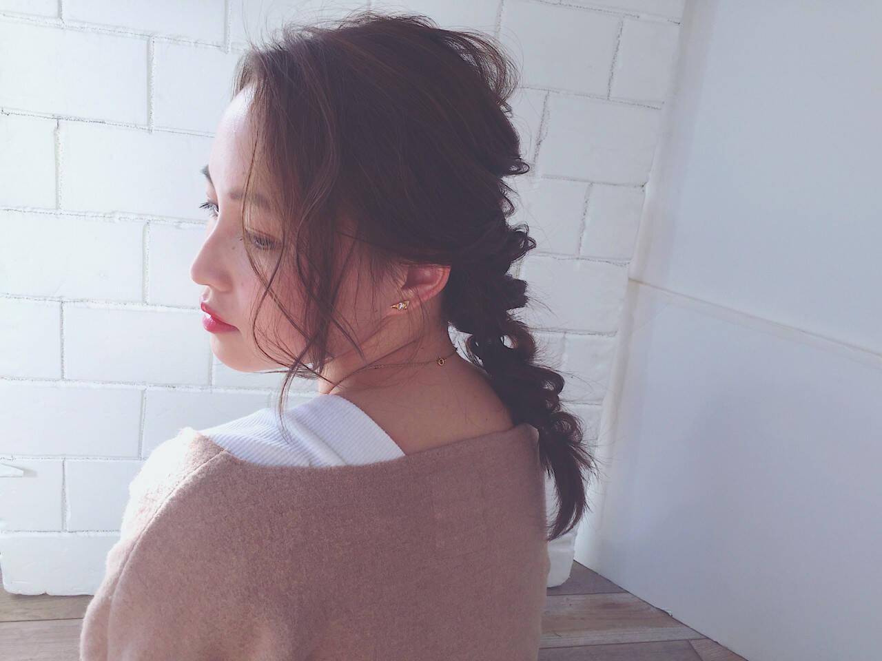 フェミニン ニュアンス 大人女子 ヘアアレンジヘアスタイルや髪型の写真・画像