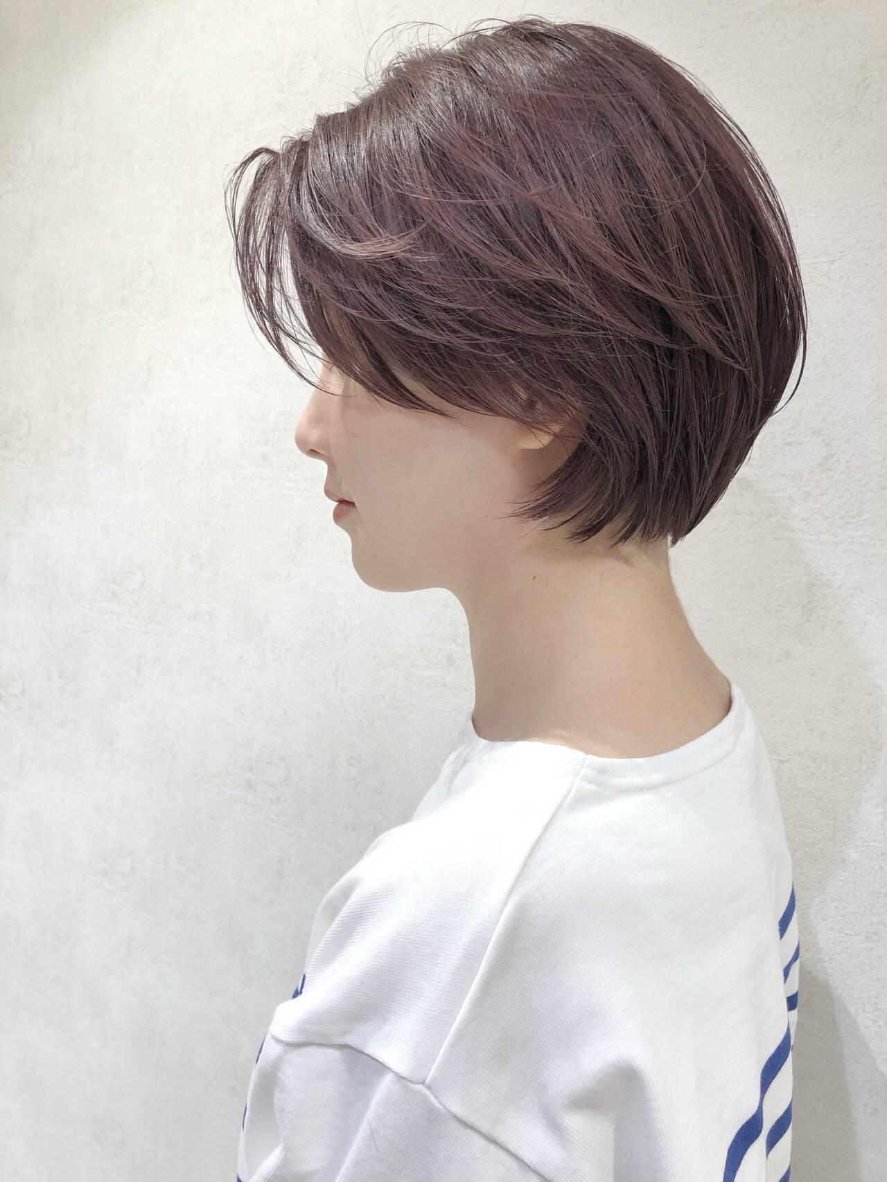 ショート ピンク ストリート ショートヘアヘアスタイルや髪型の写真・画像