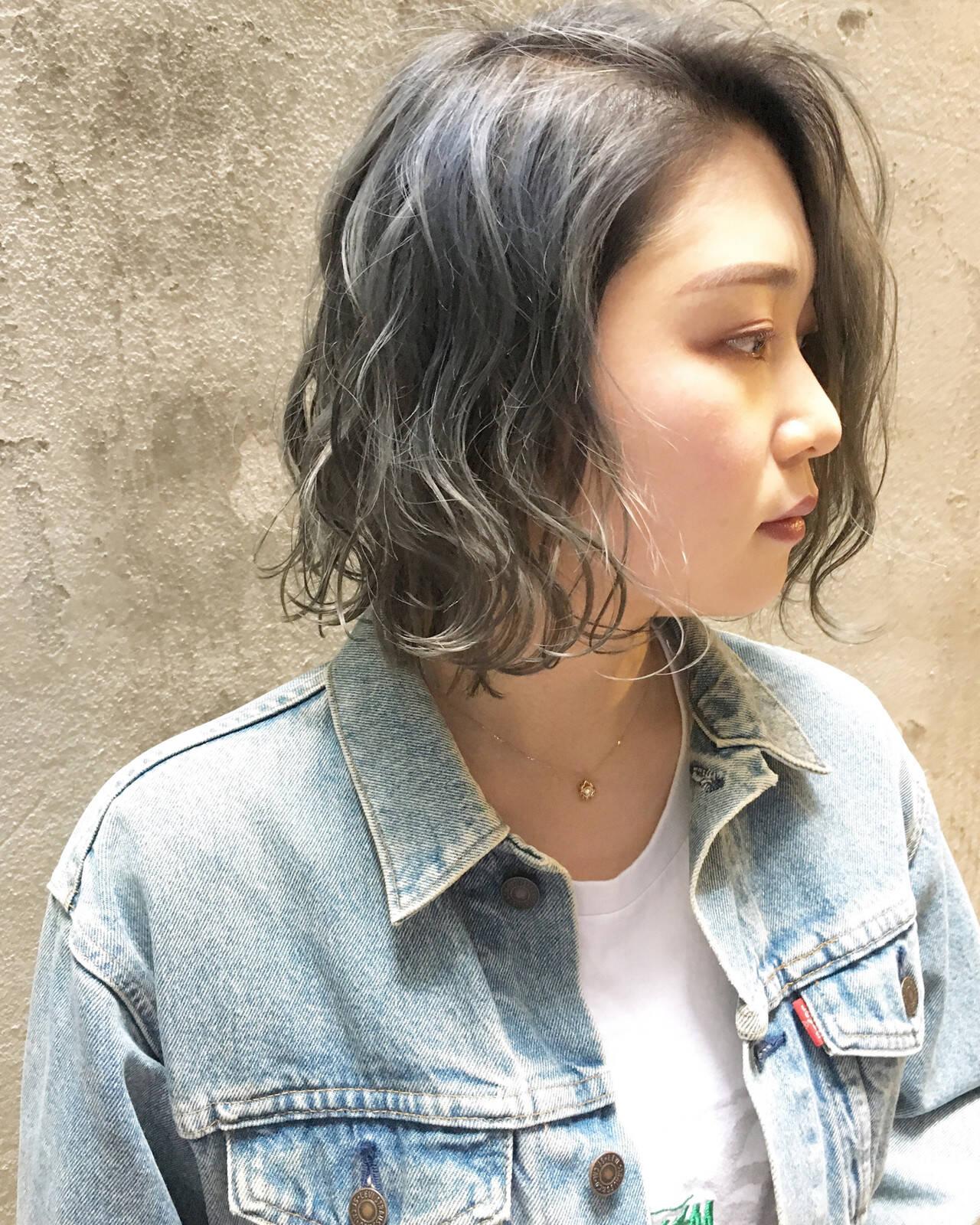 外国人風カラー ハイトーンカラー ストリート 透明感カラーヘアスタイルや髪型の写真・画像