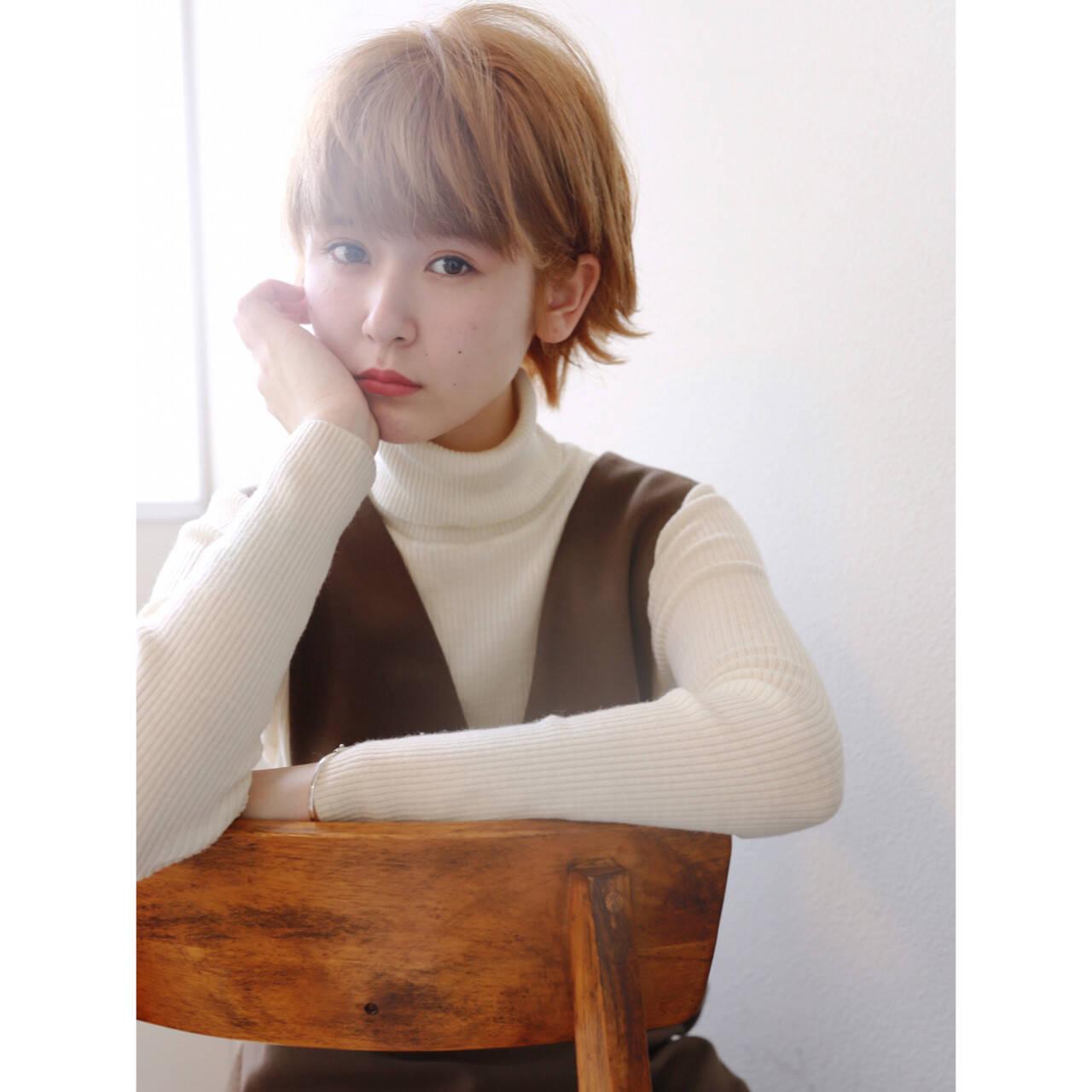 ショートボブ 大人かわいい 外国人風カラー ショートヘアスタイルや髪型の写真・画像