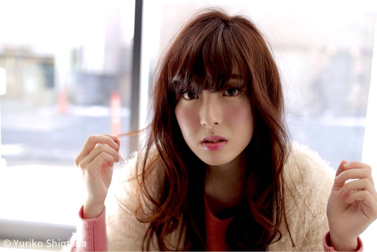 ガーリー モテ髪 グラデーションカラー フェミニンヘアスタイルや髪型の写真・画像