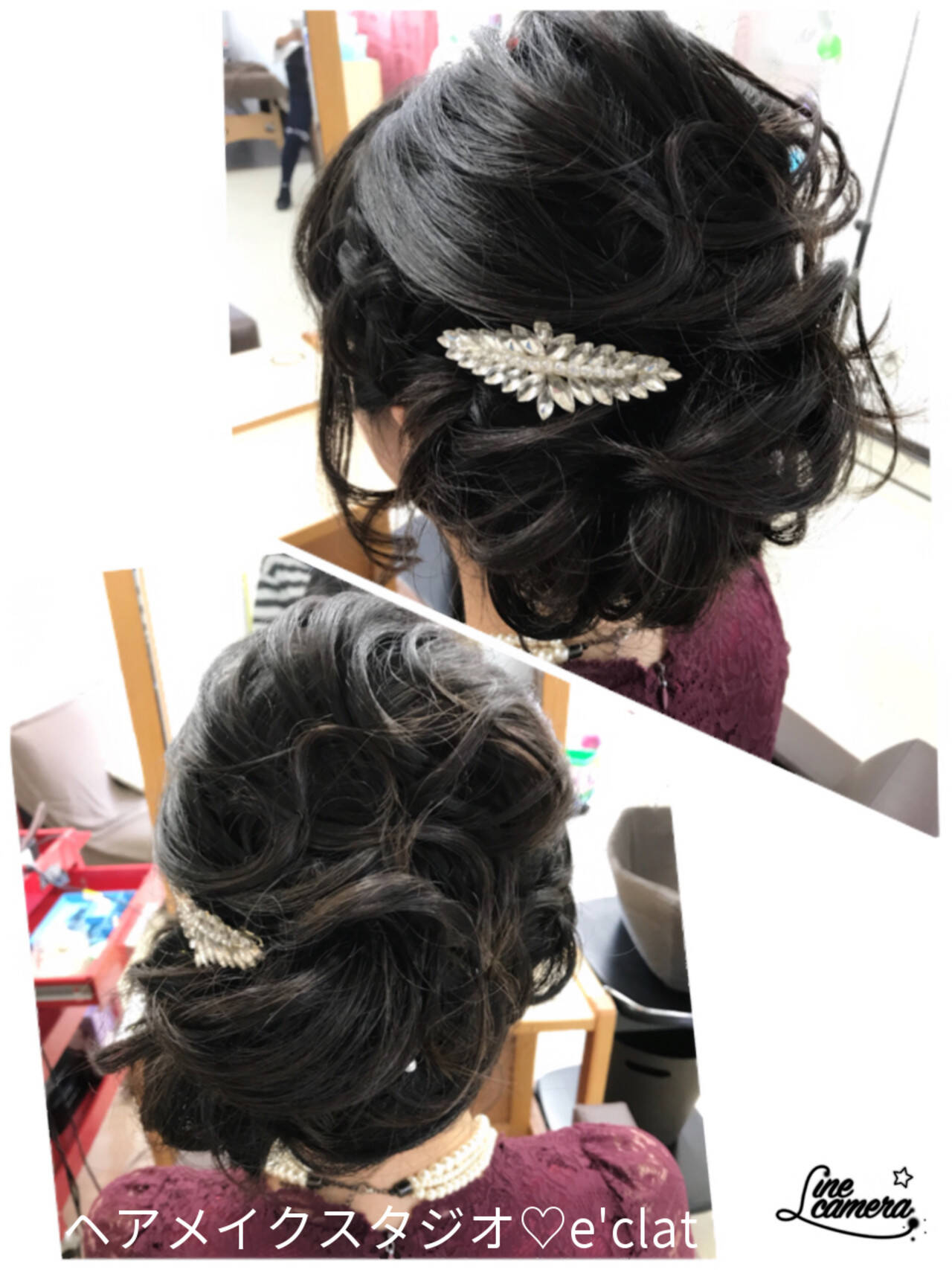 ヘアアレンジ 大人女子 ロング アップスタイルヘアスタイルや髪型の写真・画像