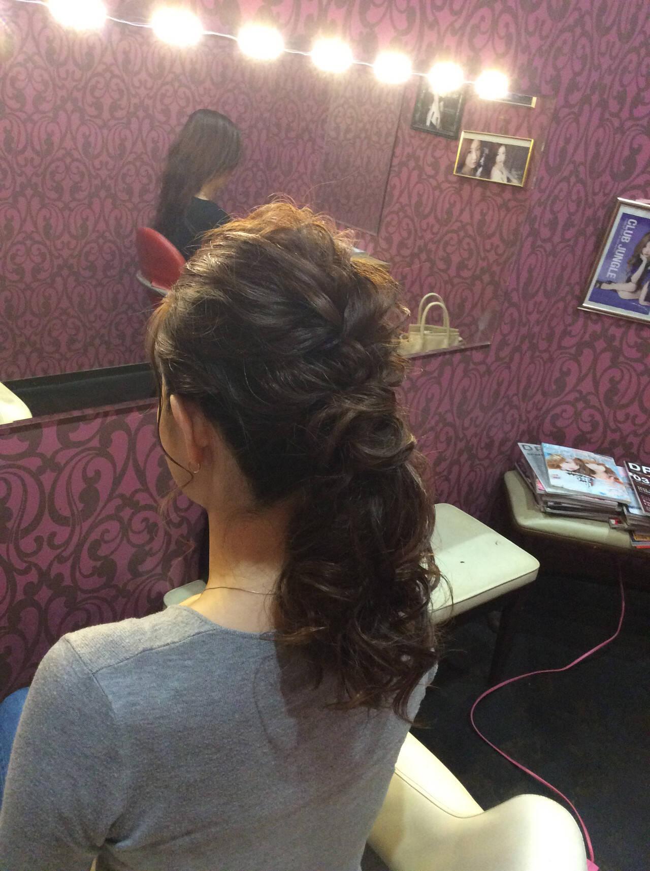 ナチュラル ヘアアレンジ セミロング 結婚式ヘアスタイルや髪型の写真・画像