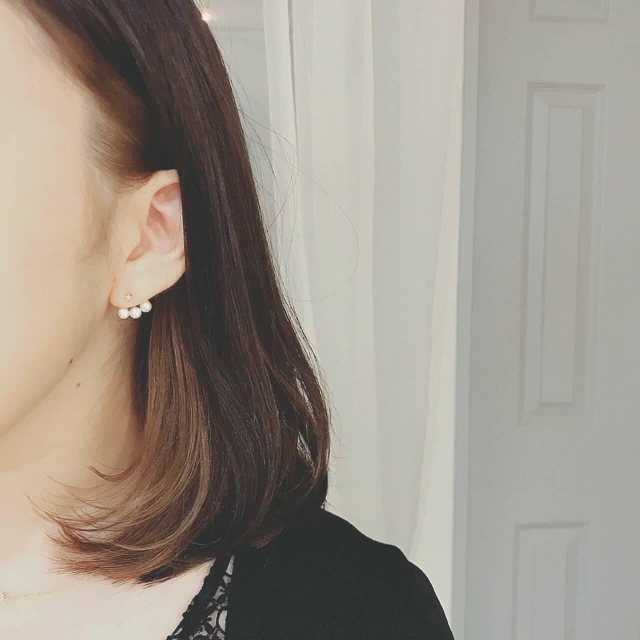 ミディアム 大人かわいい オフィス ゆるふわヘアスタイルや髪型の写真・画像
