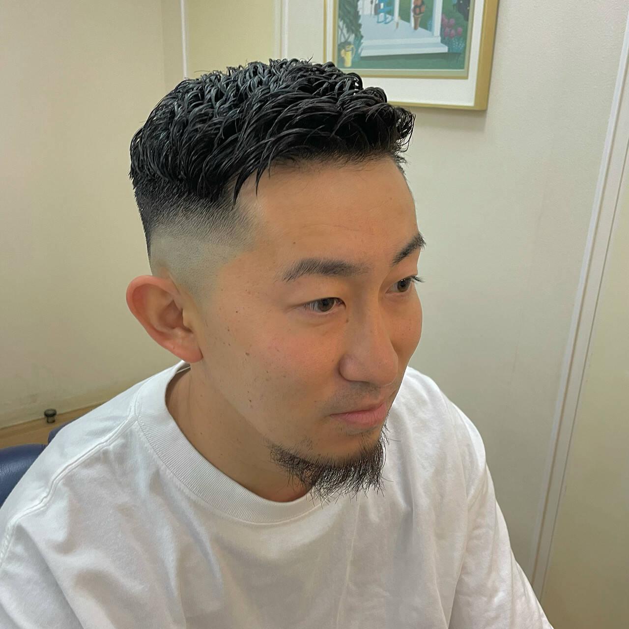 フェードカット ショート メンズ スキンフェードヘアスタイルや髪型の写真・画像