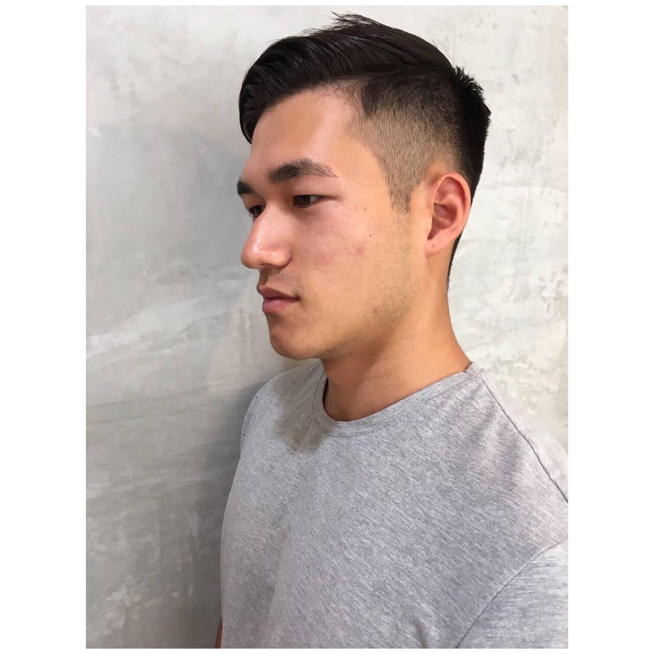 ショート メンズカット ナチュラル 黒髪ヘアスタイルや髪型の写真・画像
