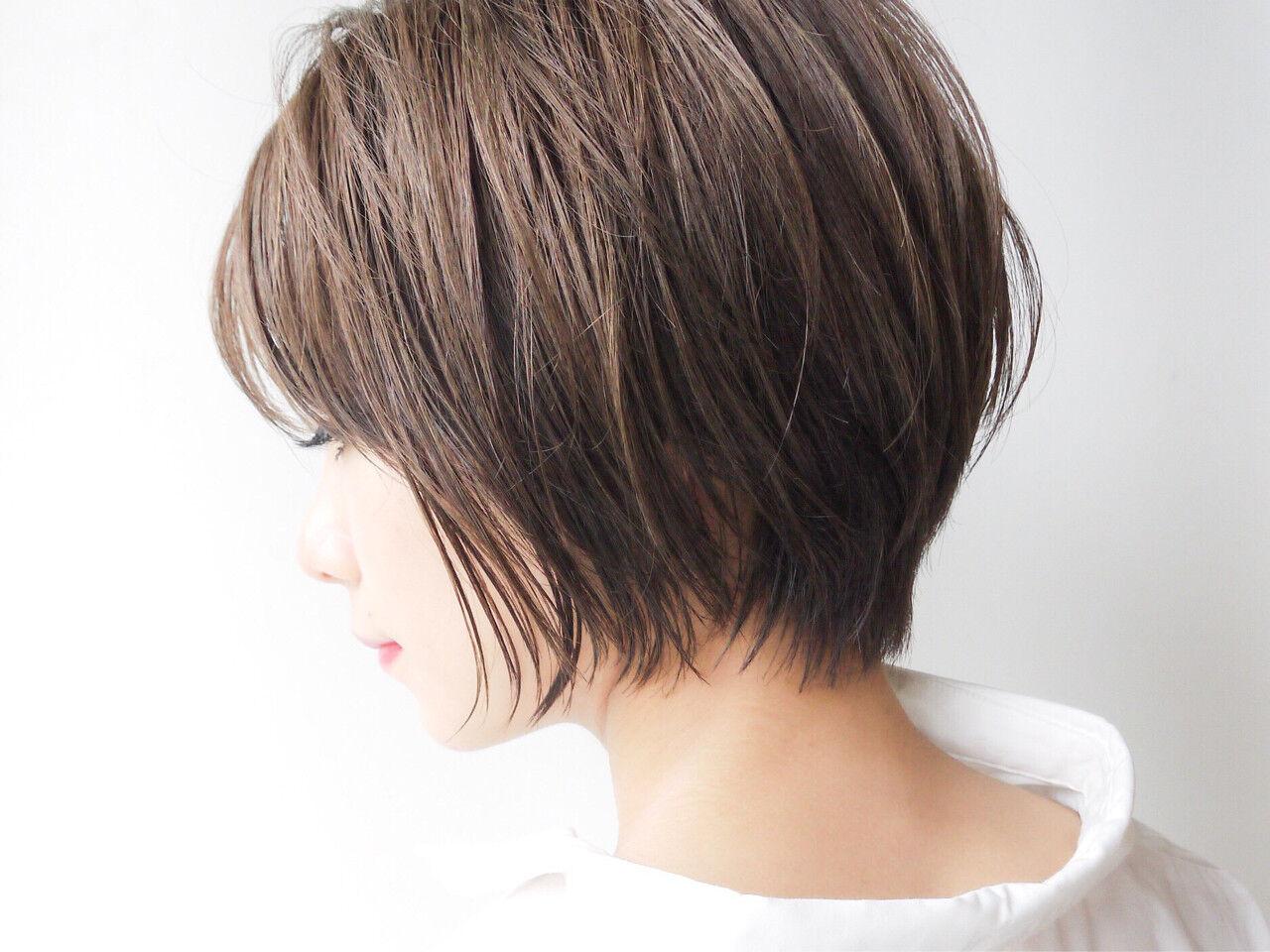 ゆるふわ ショート モテ髪 愛されヘアスタイルや髪型の写真・画像