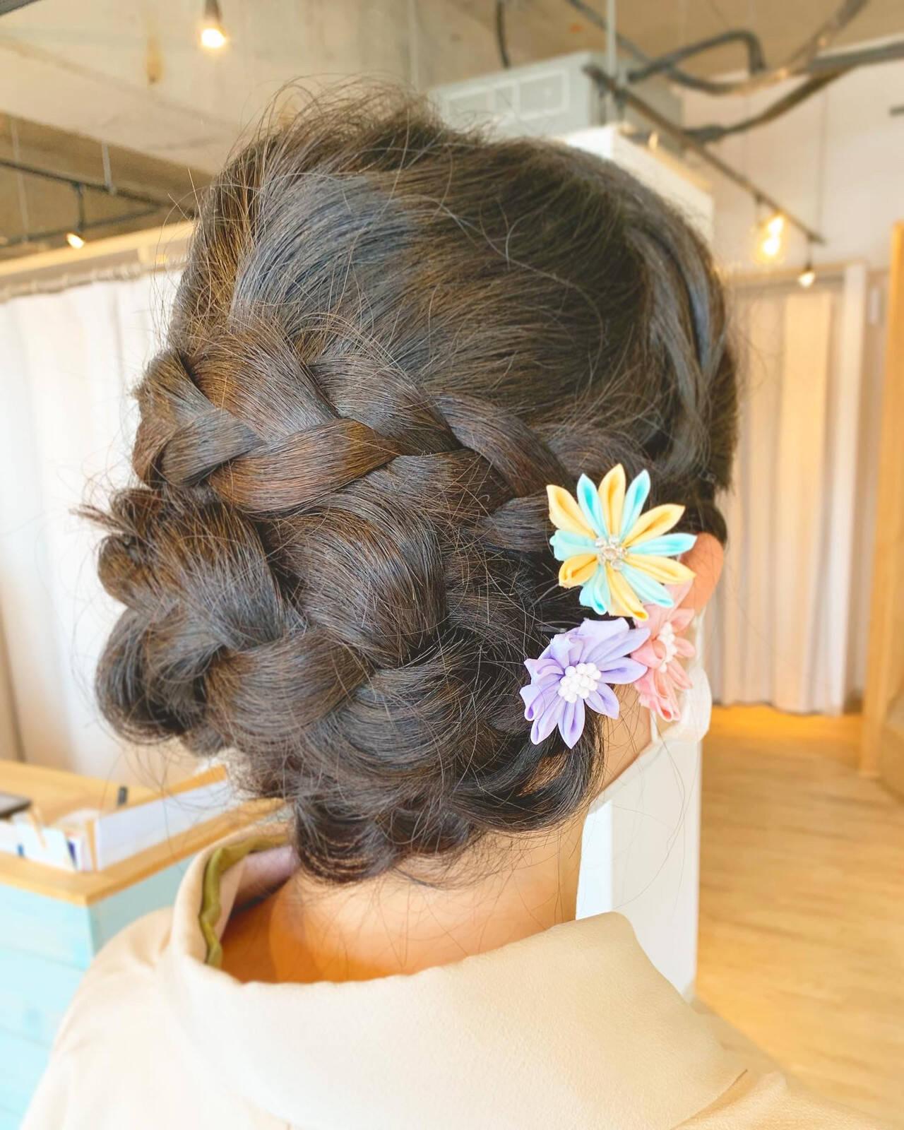 エレガント セルフヘアアレンジ ロング 簡単ヘアアレンジヘアスタイルや髪型の写真・画像