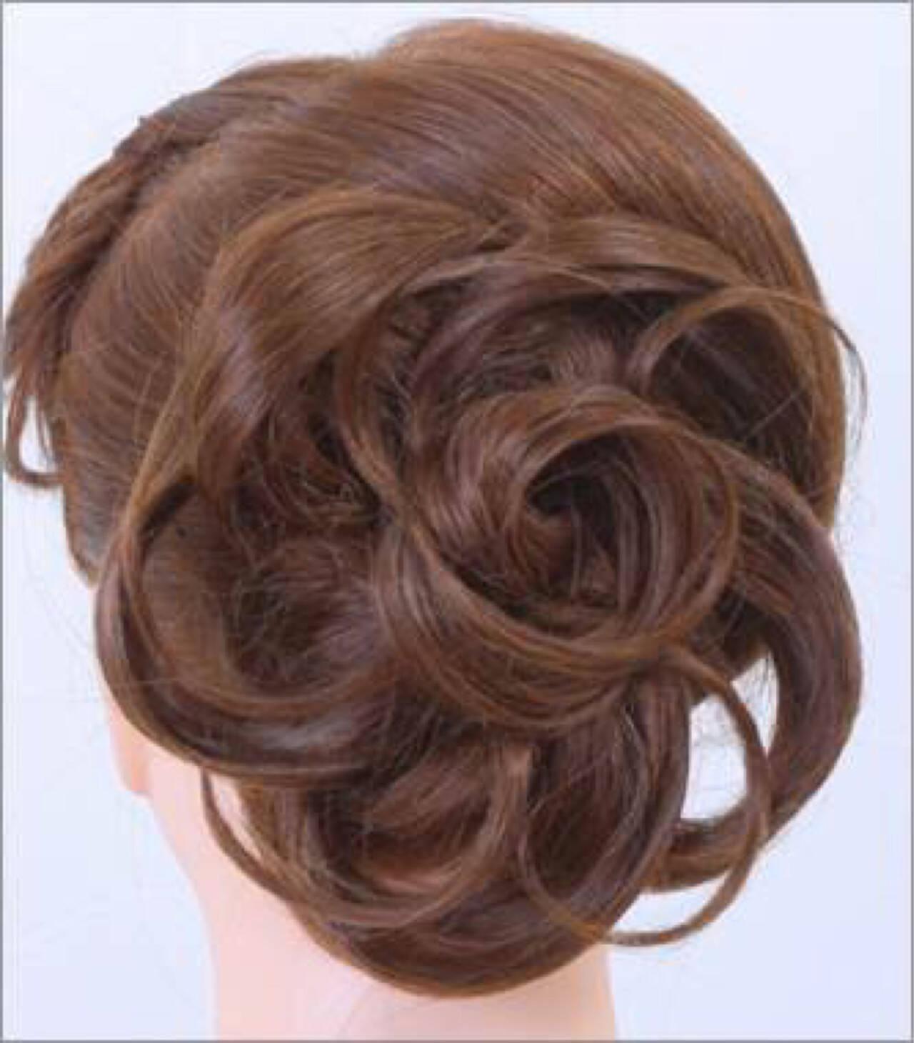 編み込み ミディアム ハーフアップ ヘアアレンジヘアスタイルや髪型の写真・画像