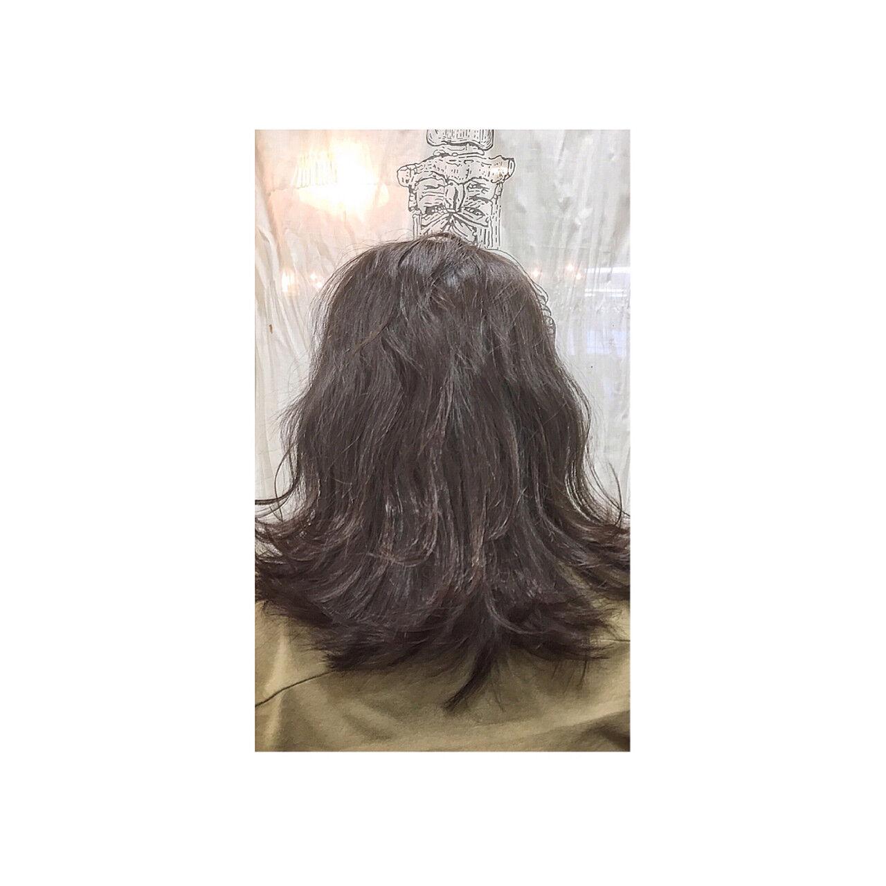 外国人風 ミディアム ボブ アッシュヘアスタイルや髪型の写真・画像