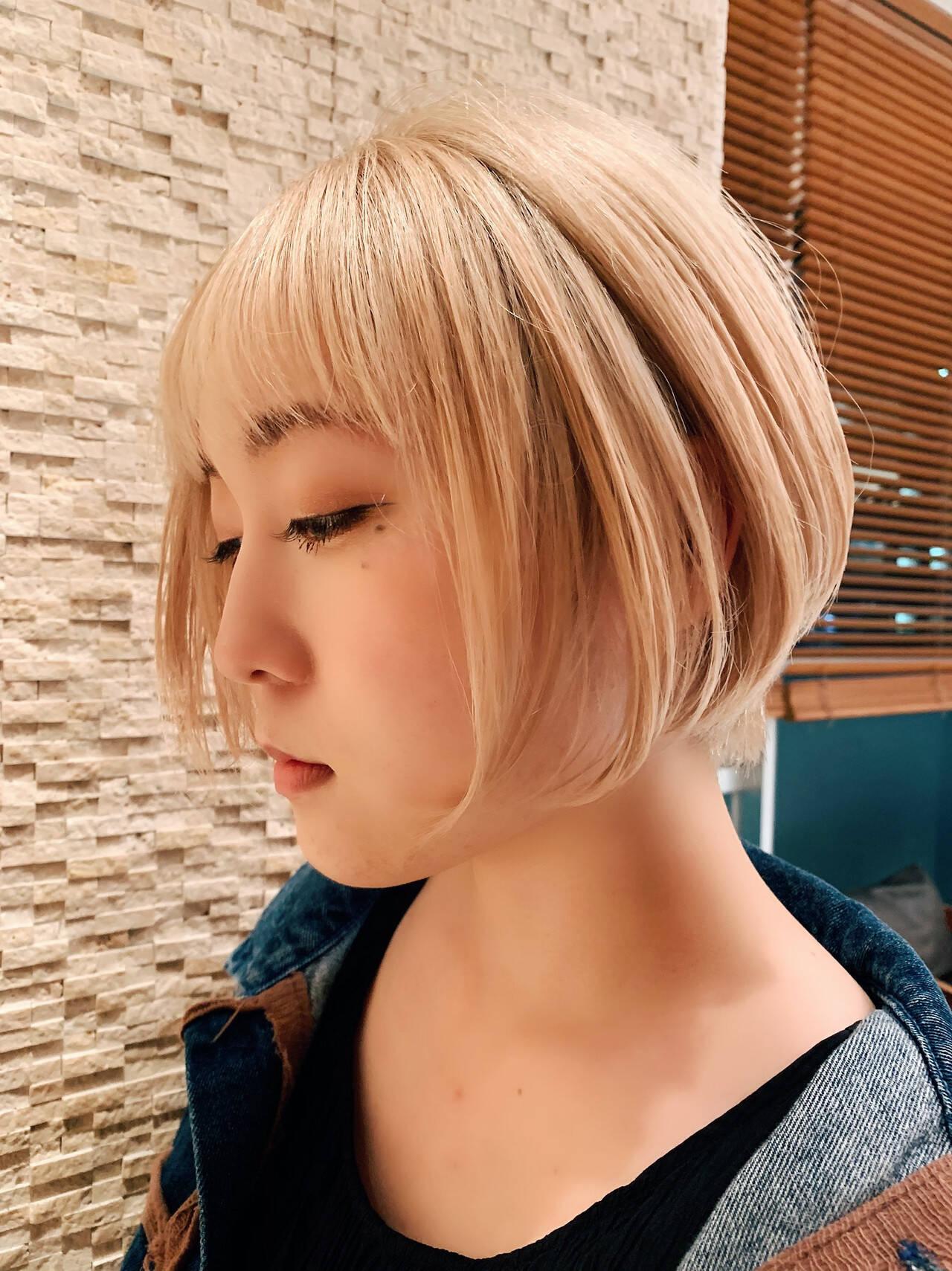 似合わせカット 阿藤俊也 PEEK-A-BOO ショートボブヘアスタイルや髪型の写真・画像