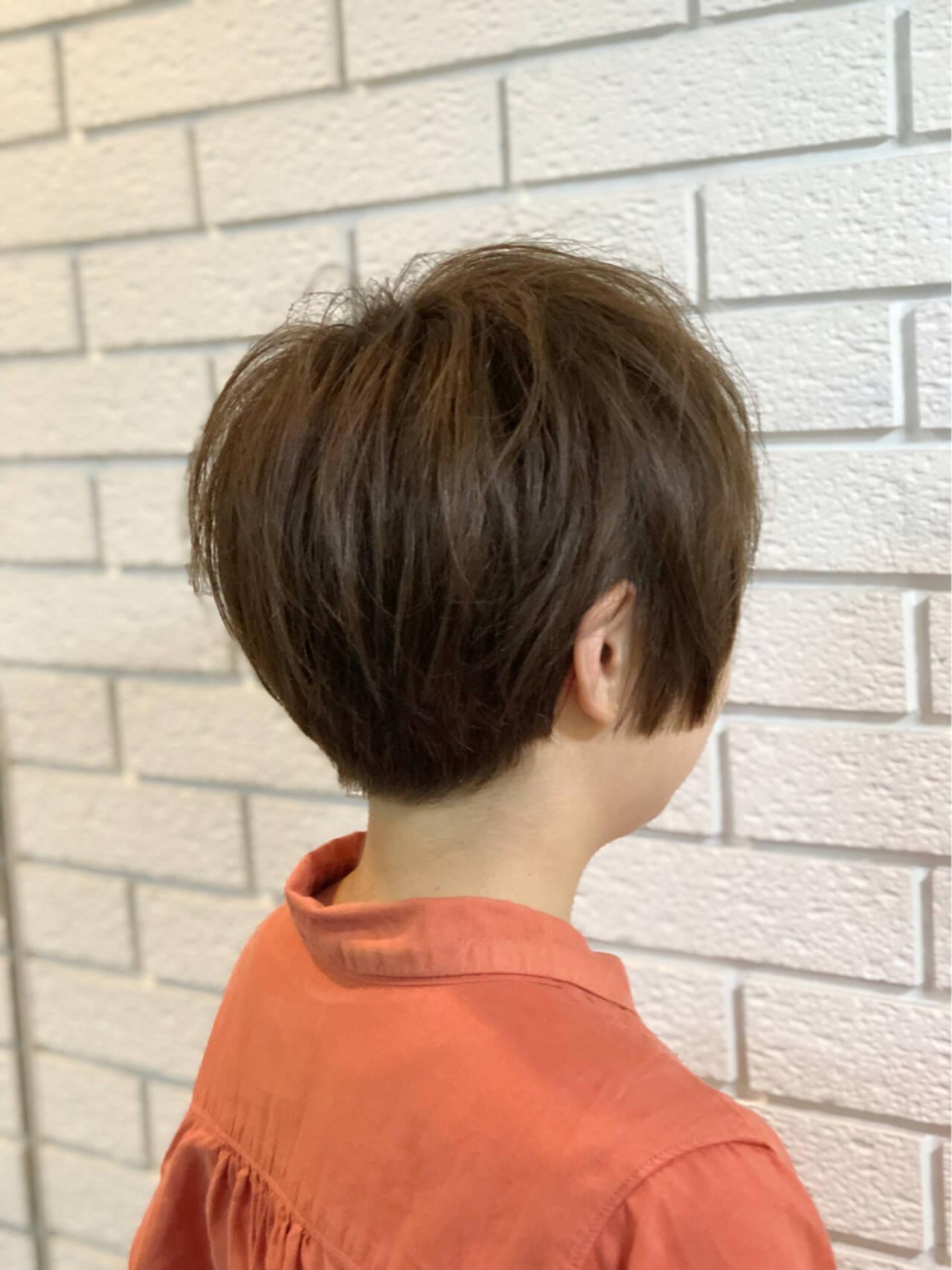 グレージュ ナチュラル 木村カエラ ショートヘアスタイルや髪型の写真・画像