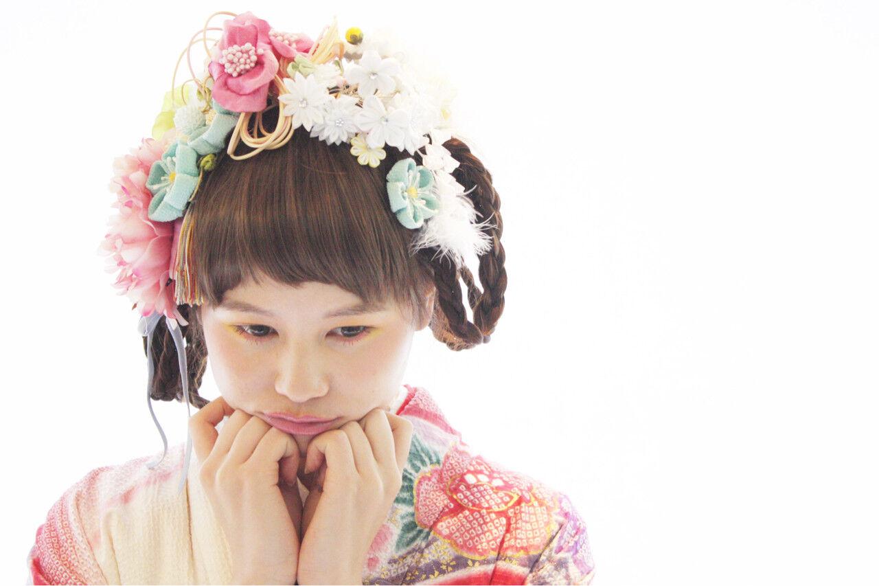 ヘアアレンジ ロング 袴 謝恩会ヘアスタイルや髪型の写真・画像
