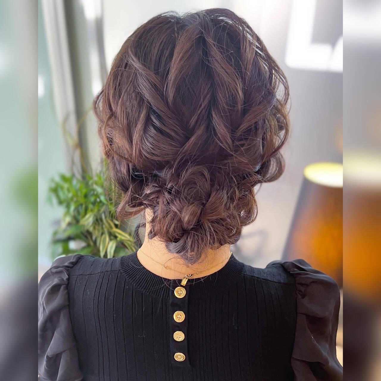 フェミニン ロング ヘアアレンジ ヘアセットヘアスタイルや髪型の写真・画像