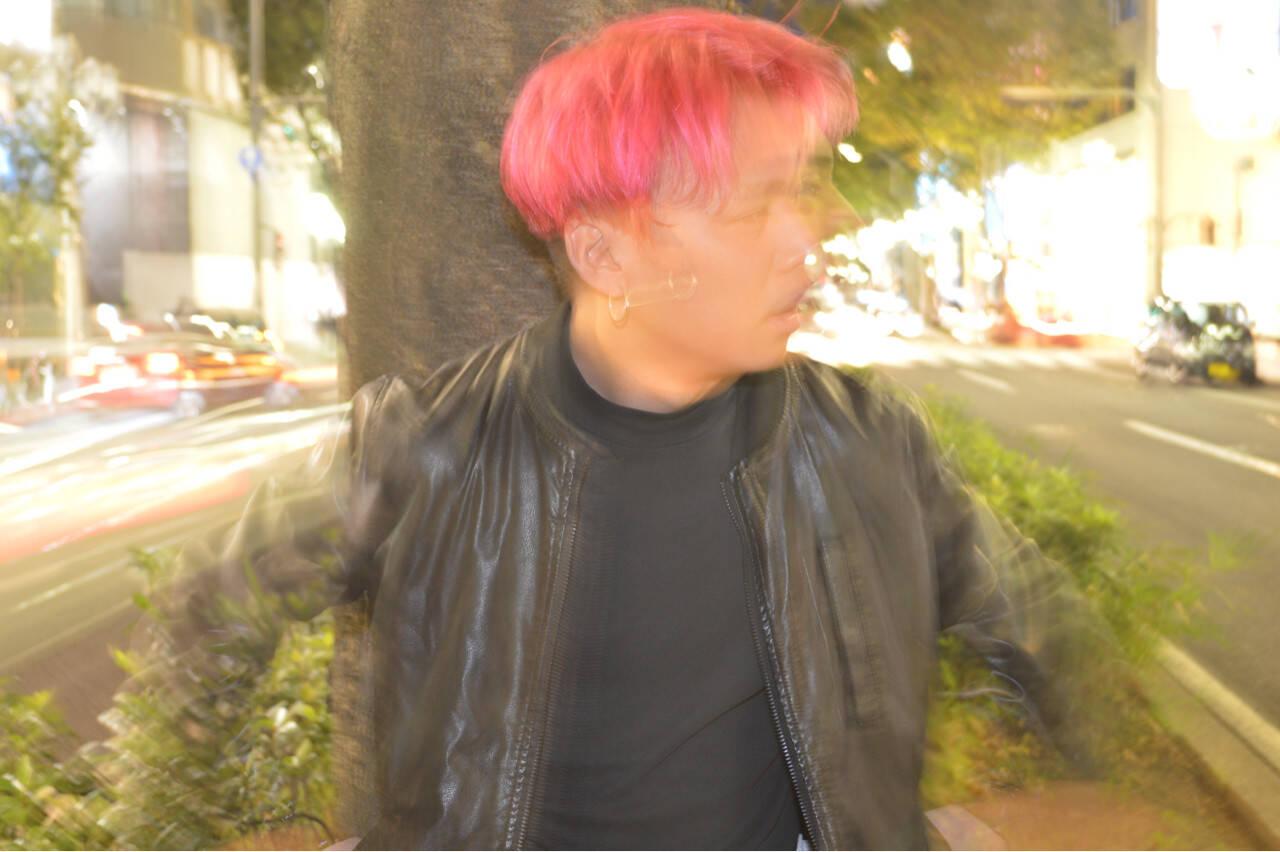 グラデーションカラー ピンク ラフ モードヘアスタイルや髪型の写真・画像