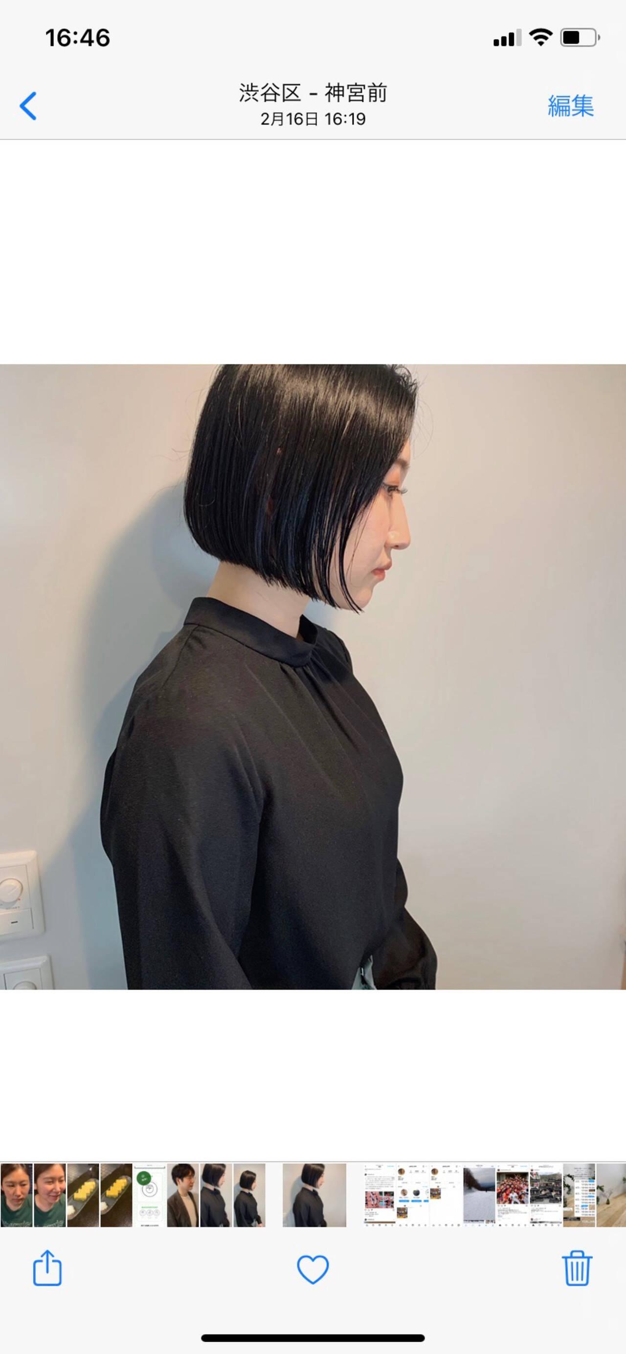 モード ボブ ミニボブ ボブアレンジヘアスタイルや髪型の写真・画像