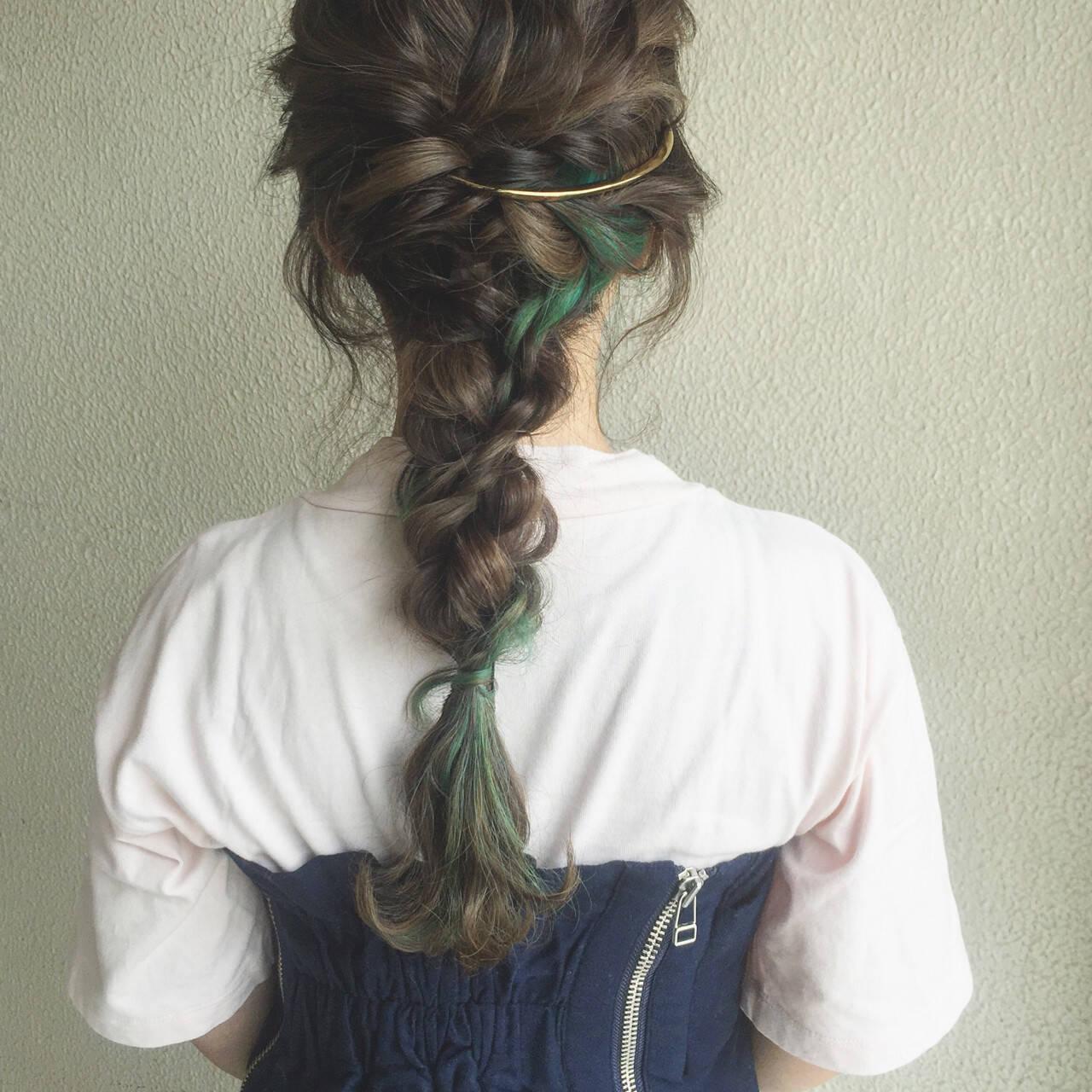 簡単ヘアアレンジ ショート 大人かわいい ロングヘアスタイルや髪型の写真・画像