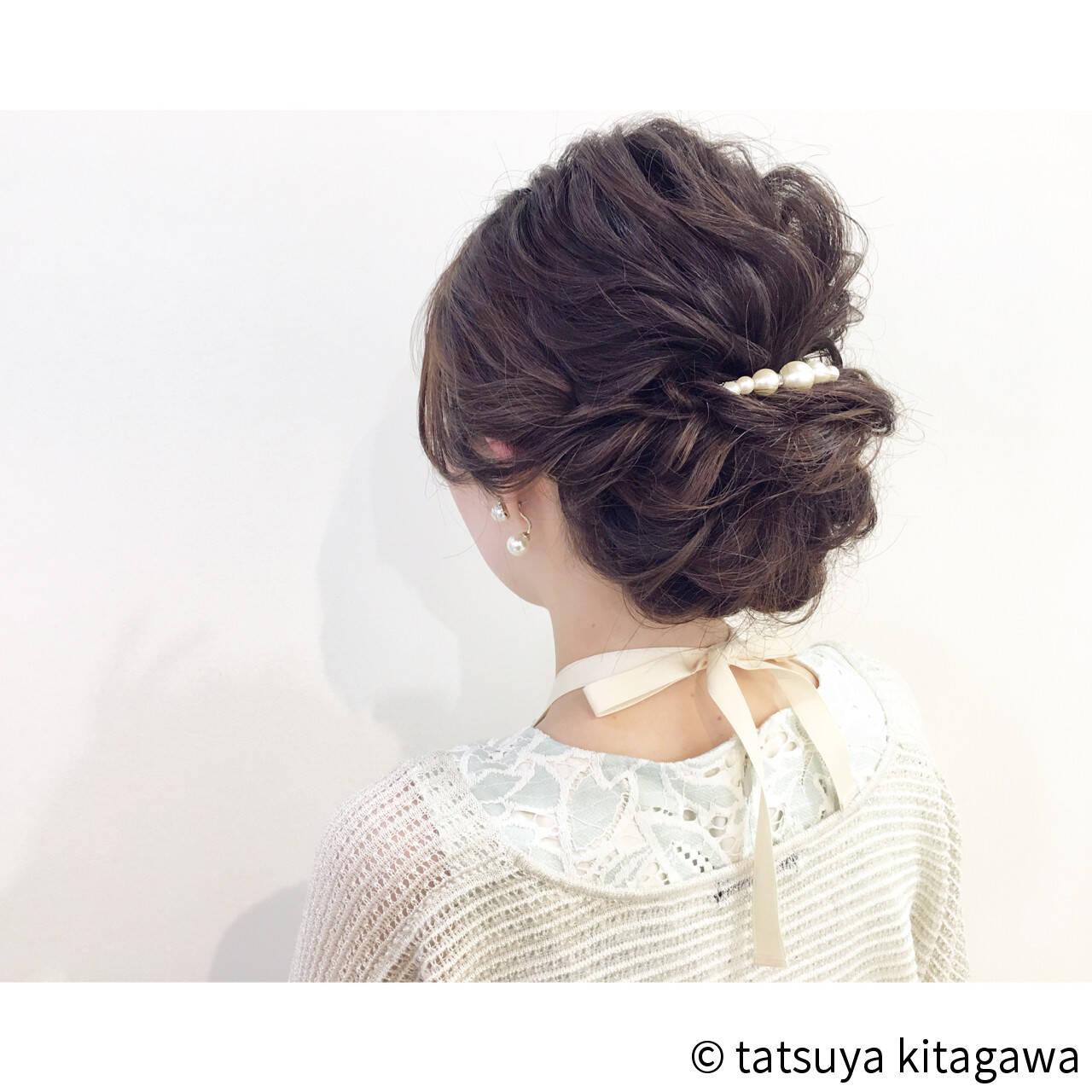 ゆるふわ 女子会 上品 エレガントヘアスタイルや髪型の写真・画像