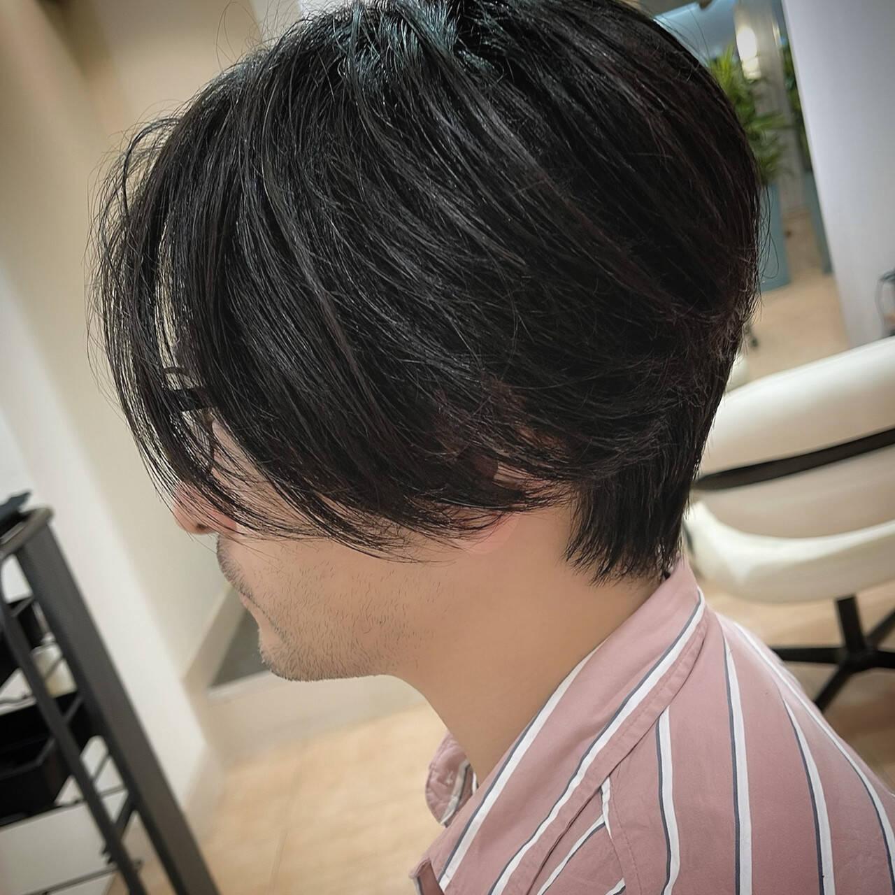 ナチュラル センターパート センター分け ショートヘアスタイルや髪型の写真・画像
