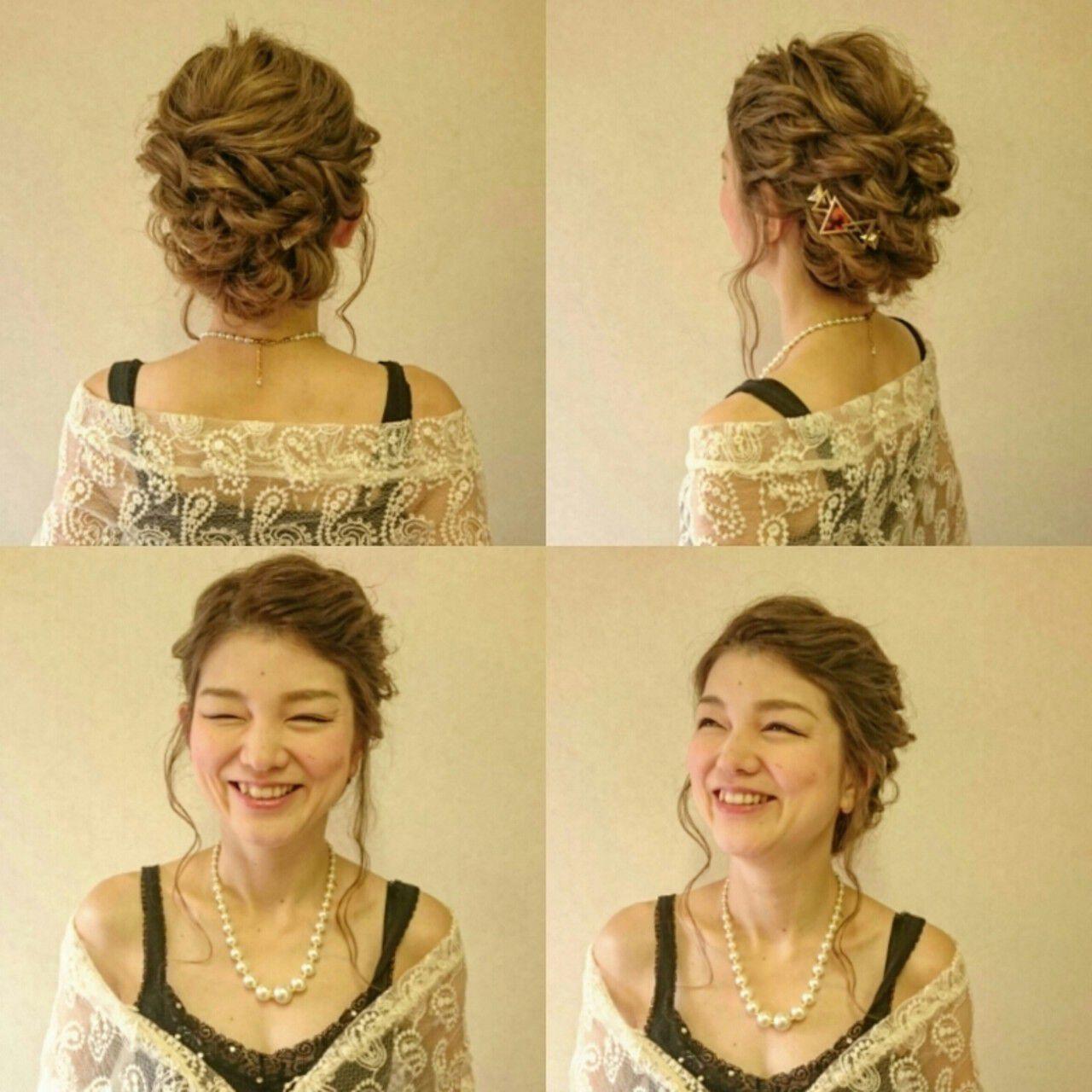 結婚式 ブライダル ゆるふわ ロングヘアスタイルや髪型の写真・画像