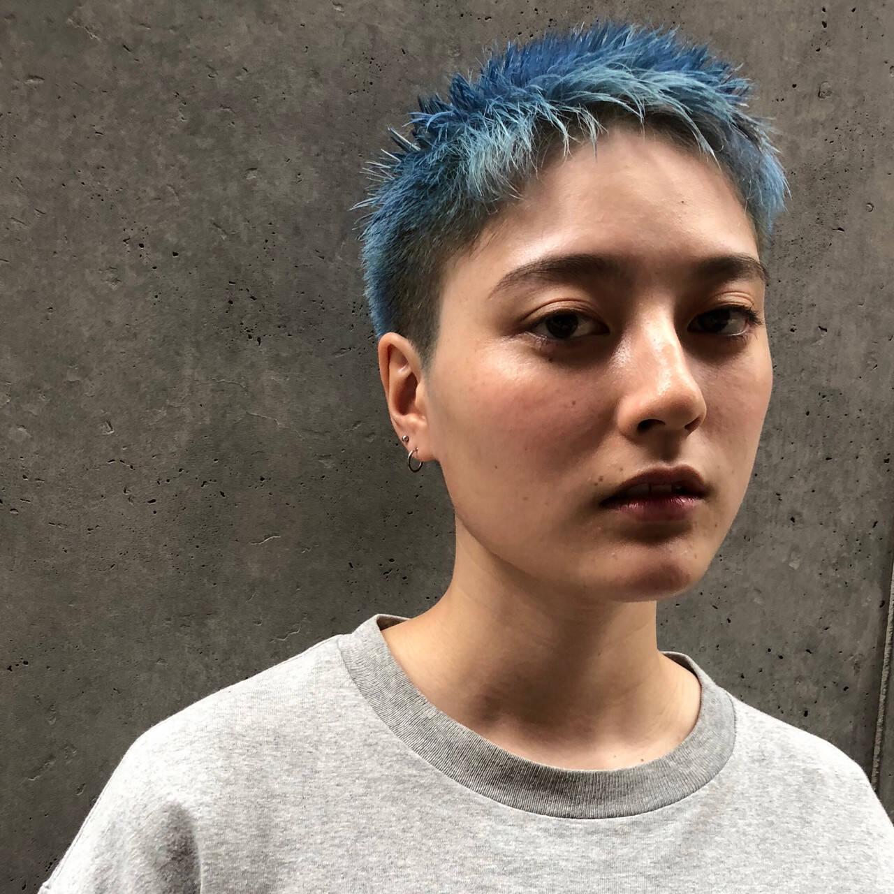 ベリーショート ショートヘア ショート 刈り上げショートヘアスタイルや髪型の写真・画像