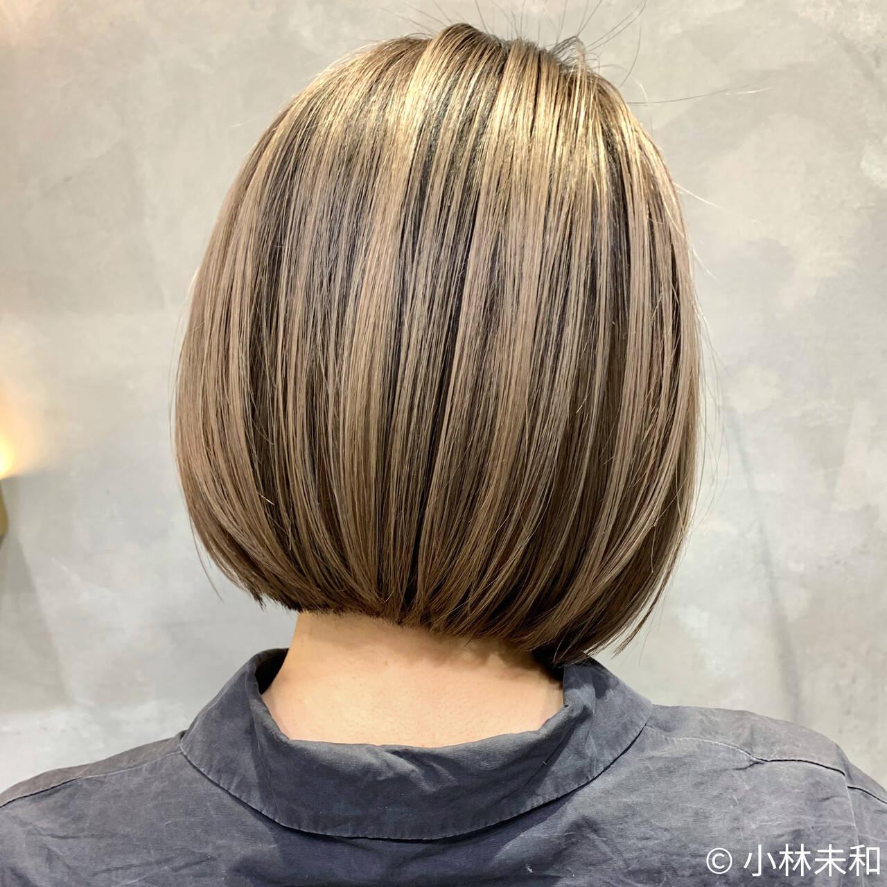 外国人風カラー インナーカラー ハイトーンカラー 大人ハイライトヘアスタイルや髪型の写真・画像