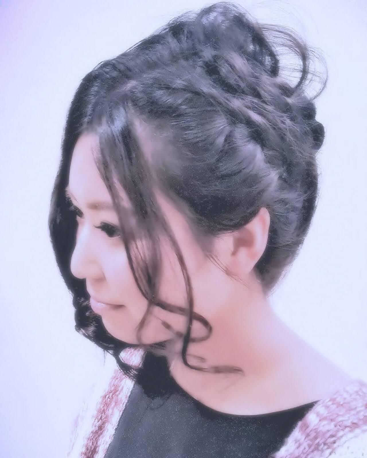 ロング エレガントヘアスタイルや髪型の写真・画像