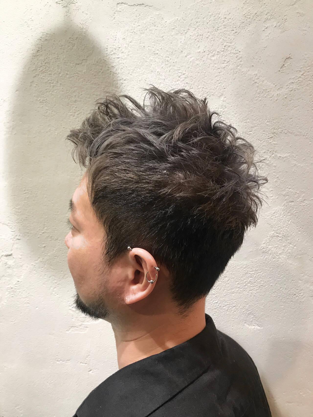 ブリーチ ダブルカラー ベージュ ストリートヘアスタイルや髪型の写真・画像