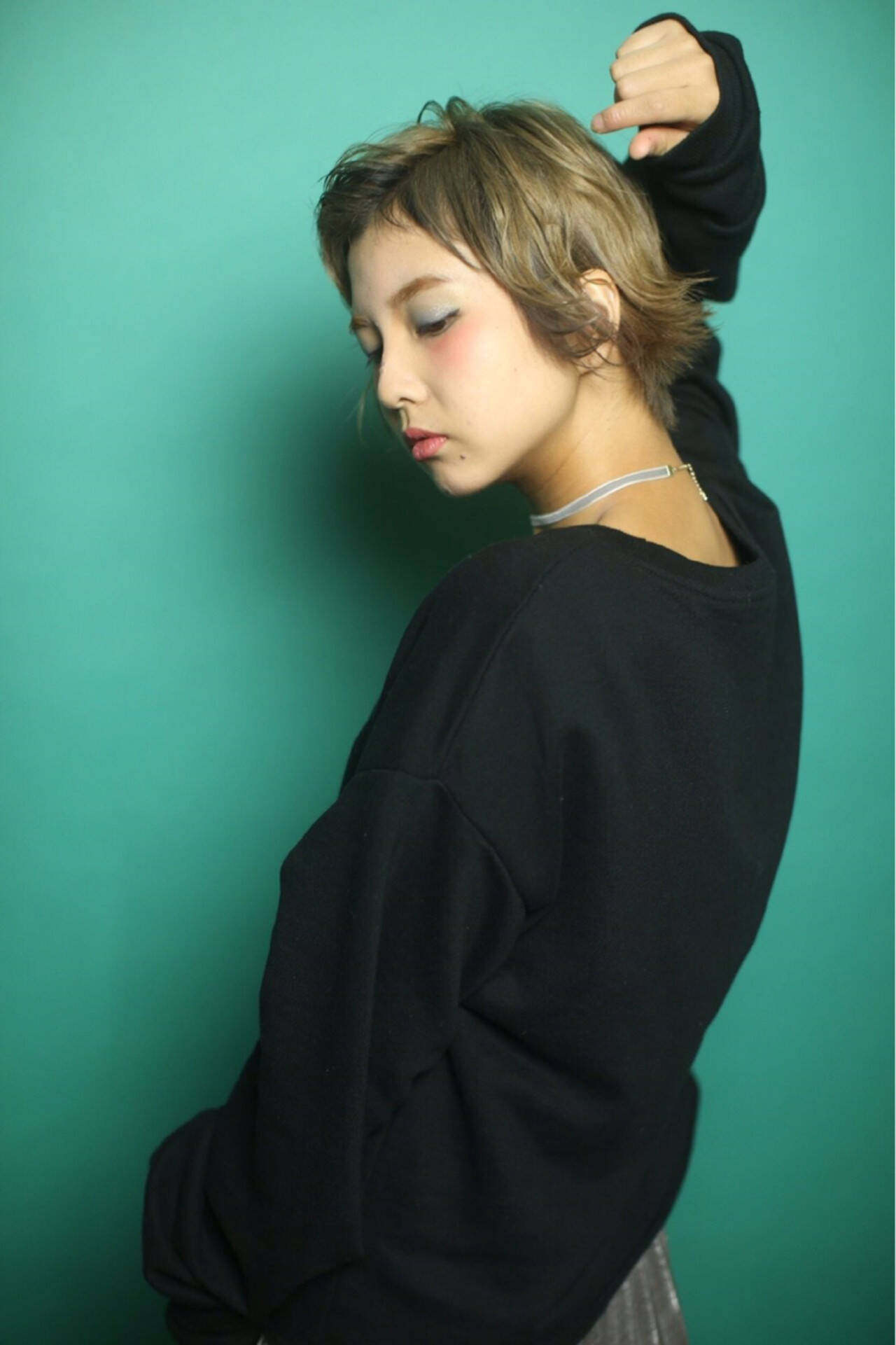 マッシュ オン眉 ガーリー 冬ヘアスタイルや髪型の写真・画像