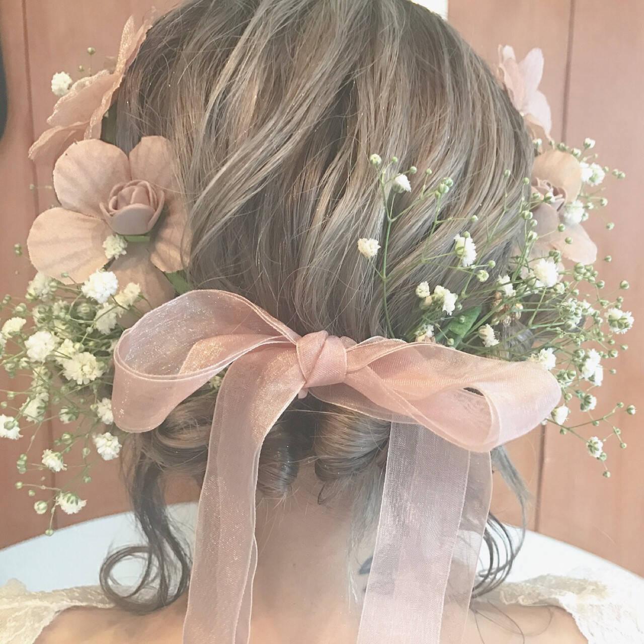 結婚式 エレガント 上品 ヘアアレンジヘアスタイルや髪型の写真・画像