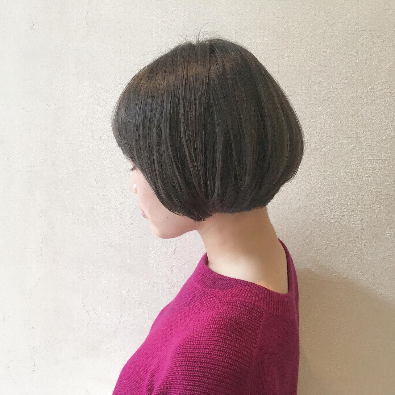 ボブ ストリート 前髪あり 外国人風ヘアスタイルや髪型の写真・画像