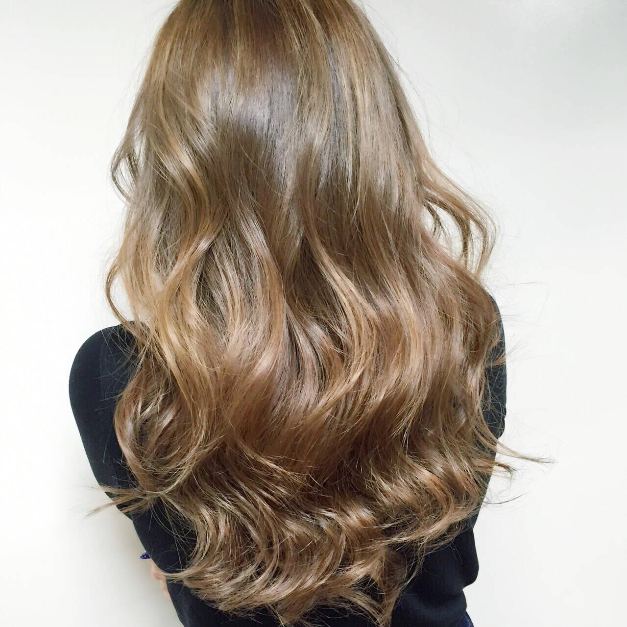 夏 アッシュ ハイライト ヘアアレンジヘアスタイルや髪型の写真・画像