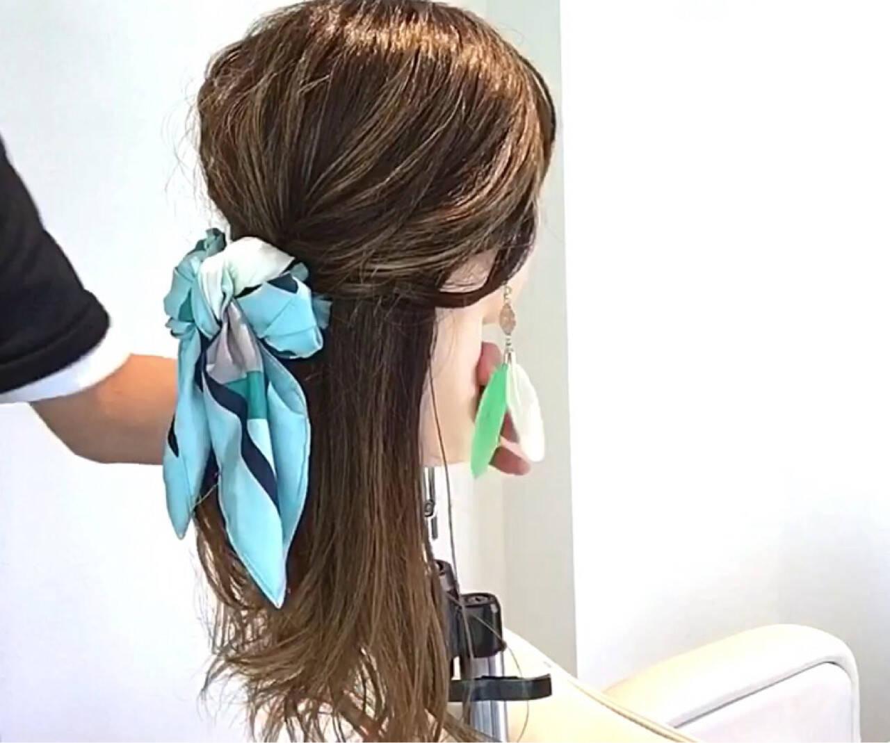 エレガント オフィス 簡単ヘアアレンジ ヘアアレンジヘアスタイルや髪型の写真・画像
