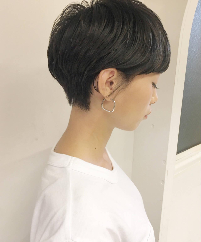 ショート アウトドア 女子力 簡単ヘアアレンジヘアスタイルや髪型の写真・画像
