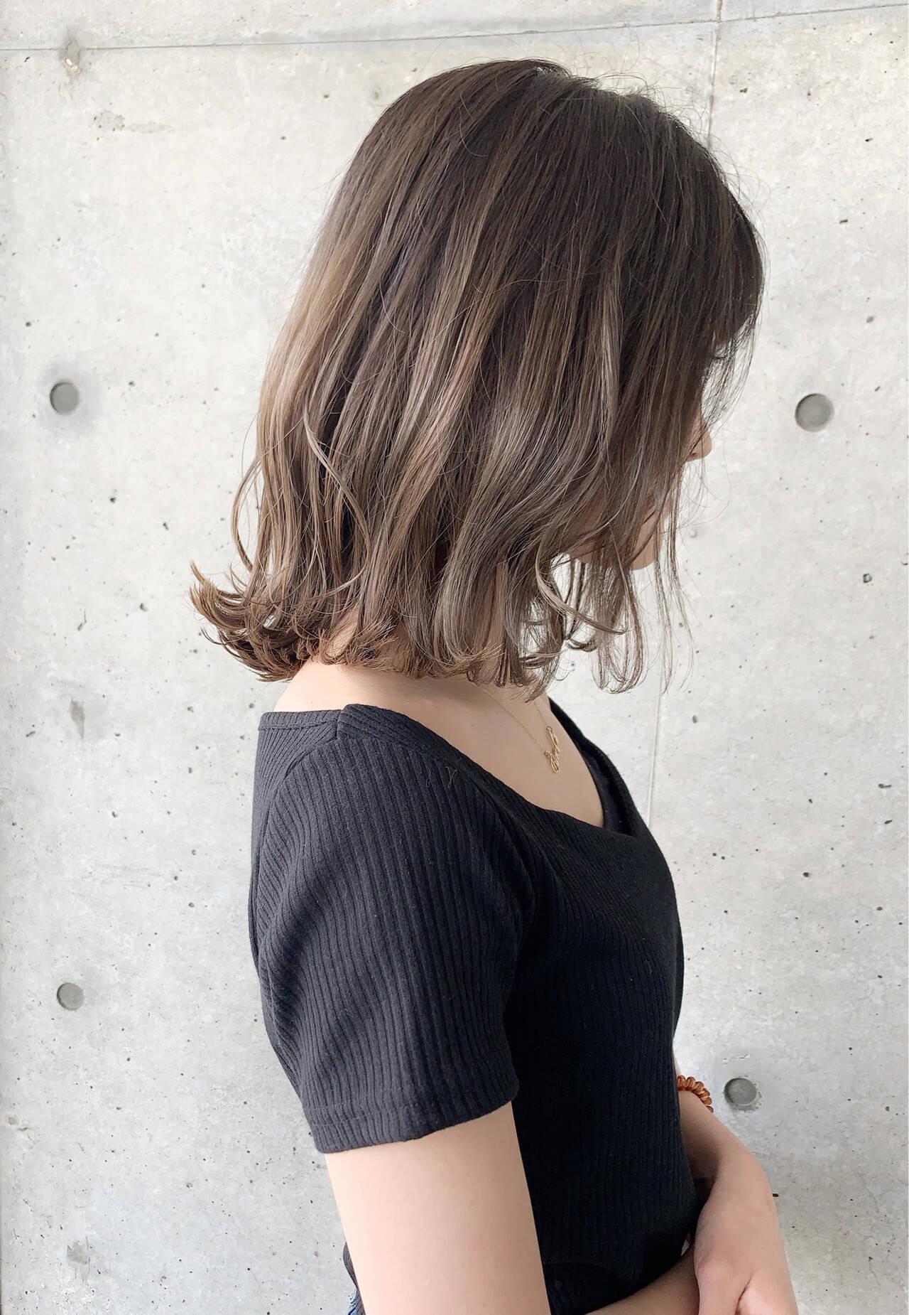 グラデーションカラー ナチュラル 透明感カラー ボブヘアスタイルや髪型の写真・画像