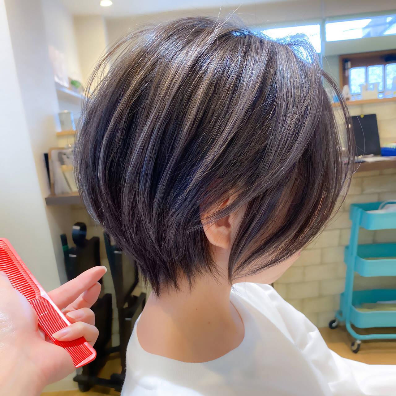ショートボブ ショート ストリート ショートヘアヘアスタイルや髪型の写真・画像