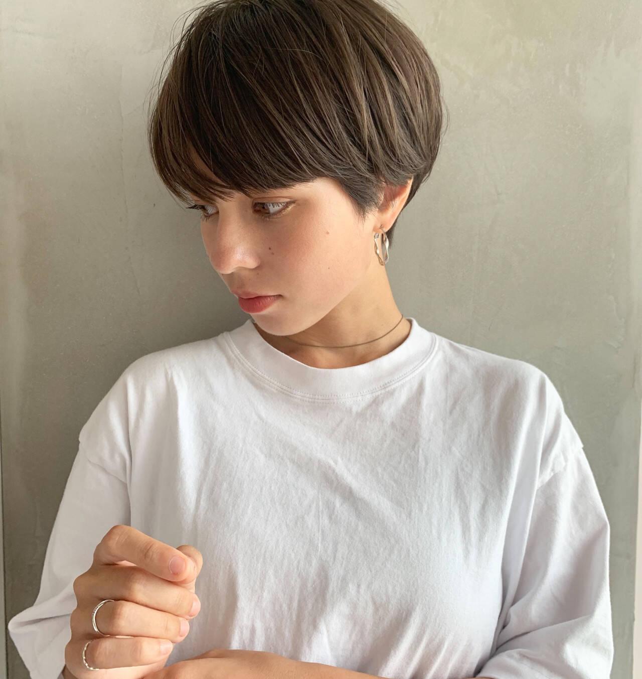 大人女子 ナチュラル 上品 ボブヘアスタイルや髪型の写真・画像