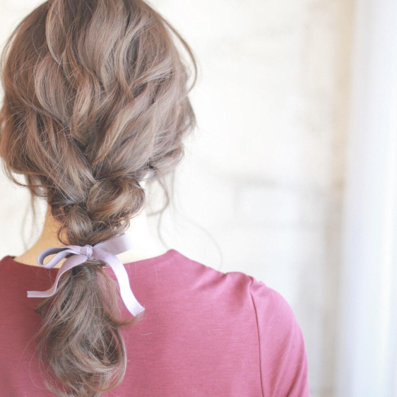ショート セミロング 簡単ヘアアレンジ 結婚式ヘアスタイルや髪型の写真・画像