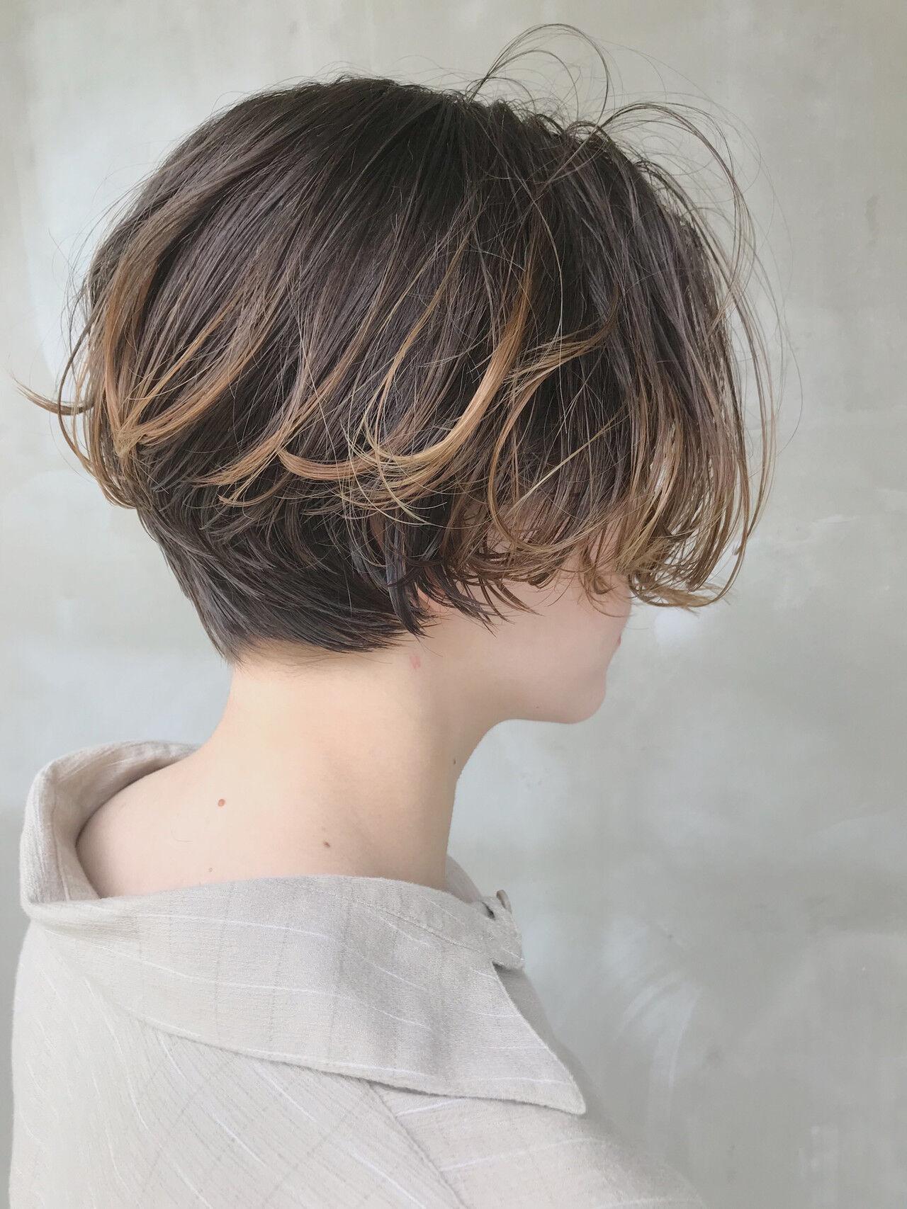 抜け感 モード ハンサムショート ショートヘアスタイルや髪型の写真・画像