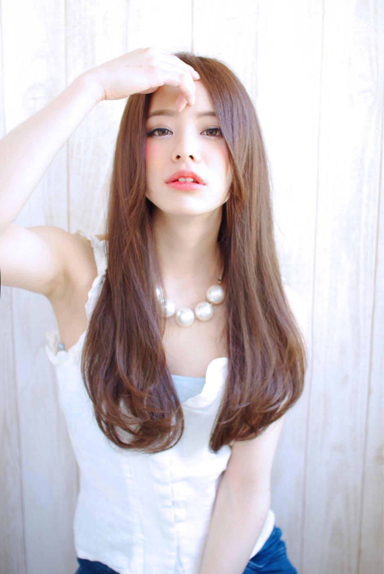 ロング 愛され 大人かわいい 小顔ヘアスタイルや髪型の写真・画像